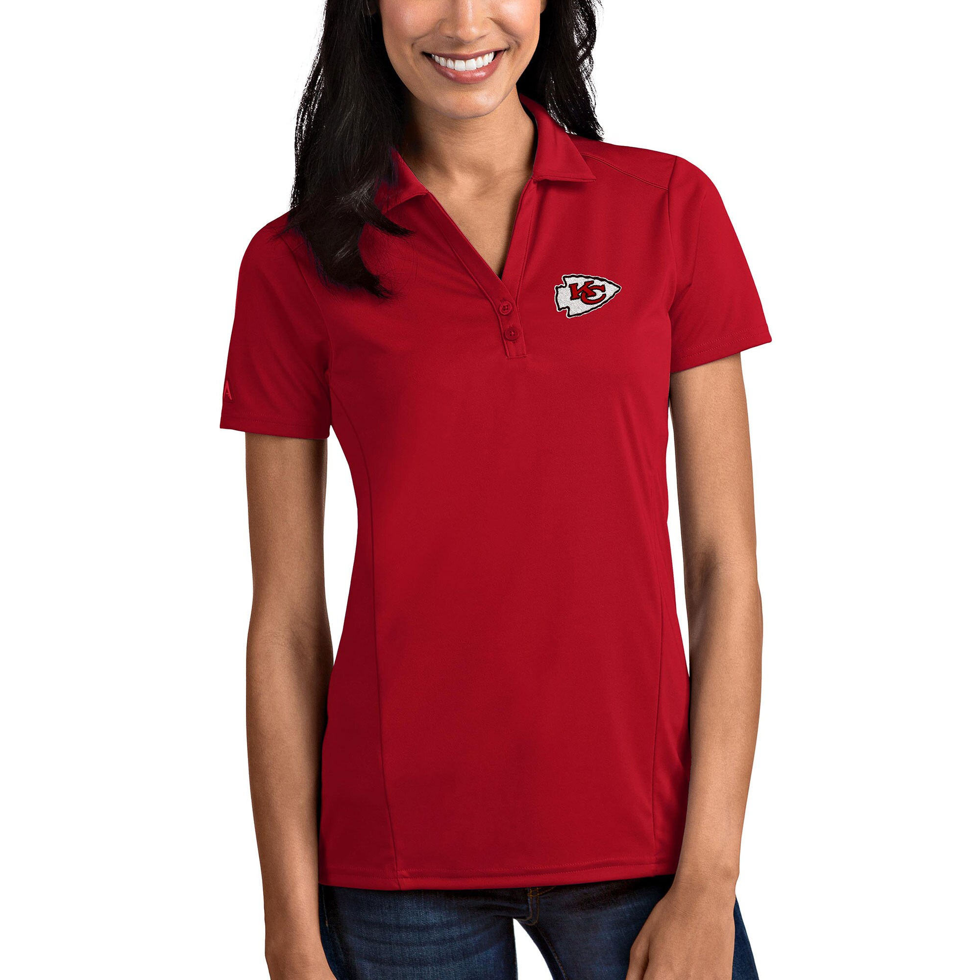Kansas City Chiefs Antigua Women's Tribute Polo - Red