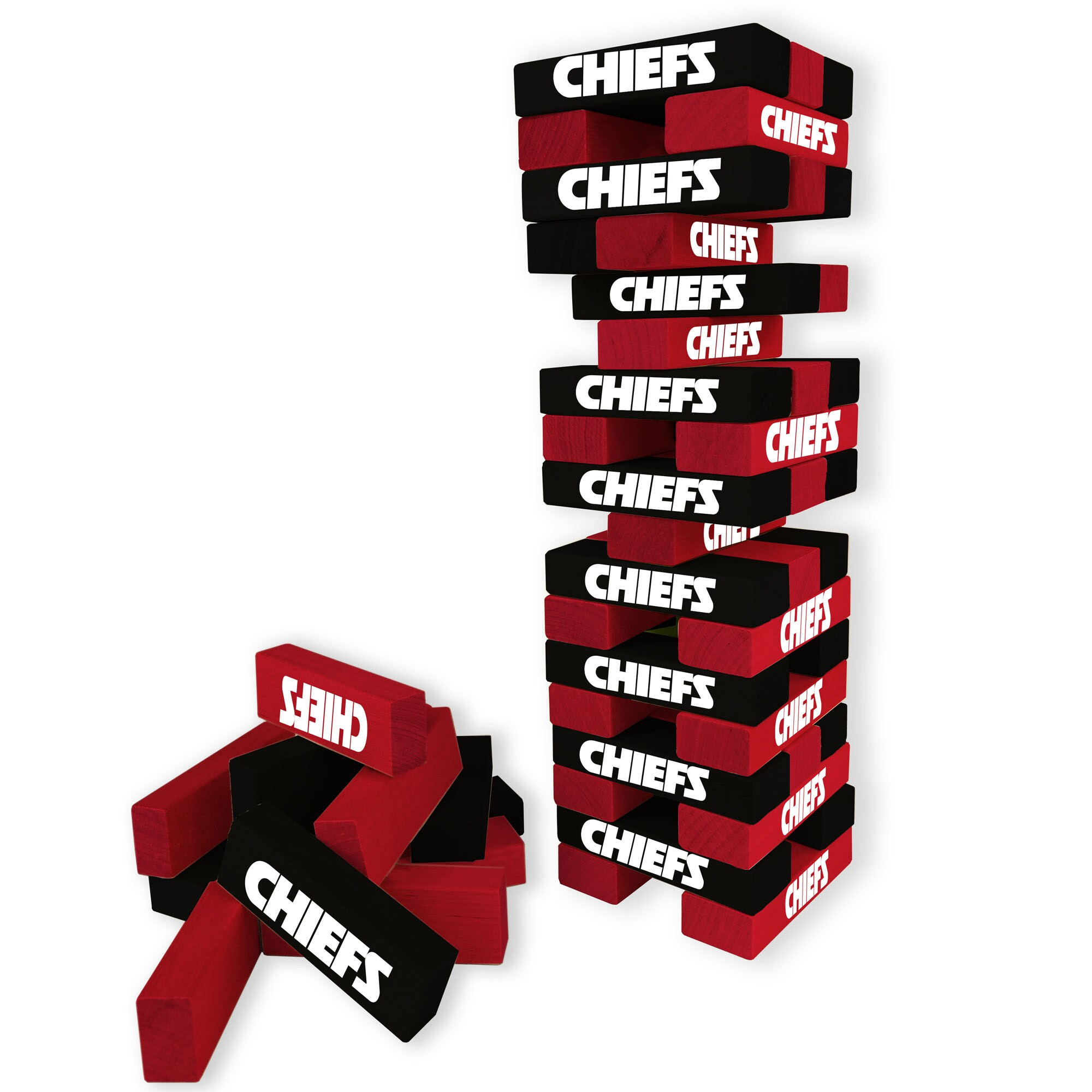 Kansas City Chiefs Wooden Table Top Stackers