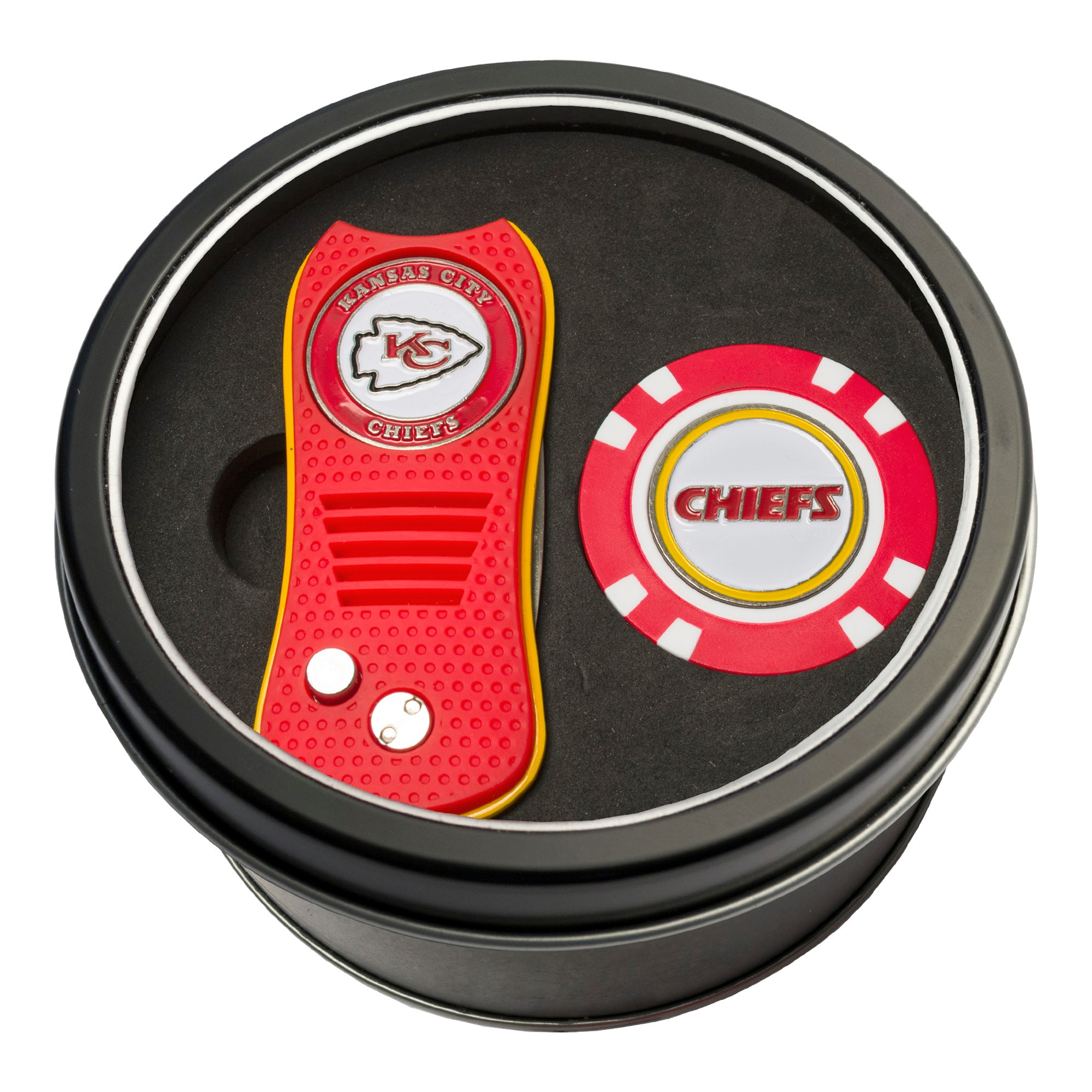 Kansas City Chiefs Switch Chip Golf Tin Set