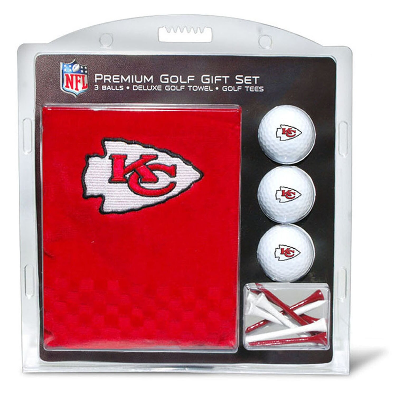 Kansas City Chiefs Embroidered Golf Gift Set