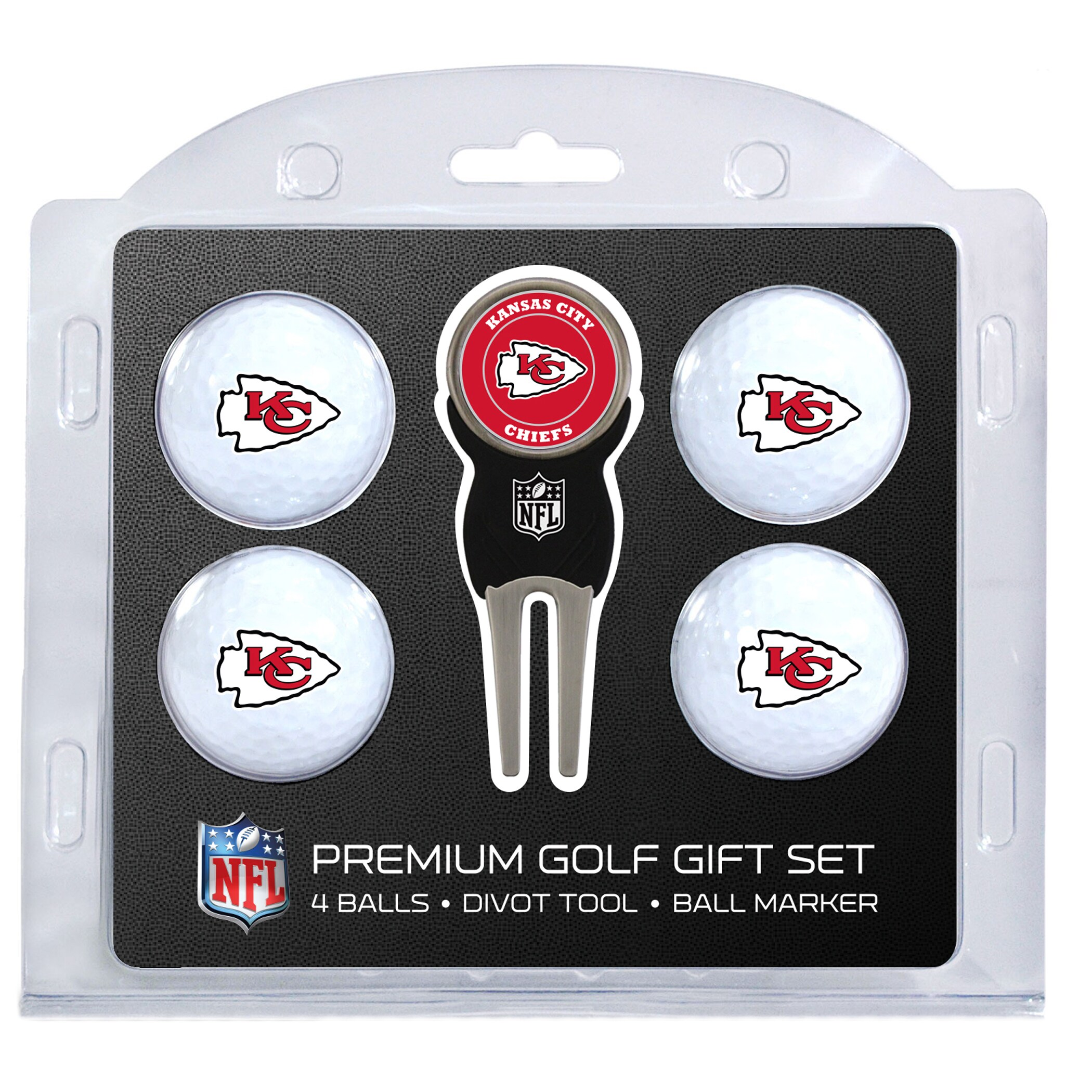 Kansas City Chiefs 4-Ball Gift Set