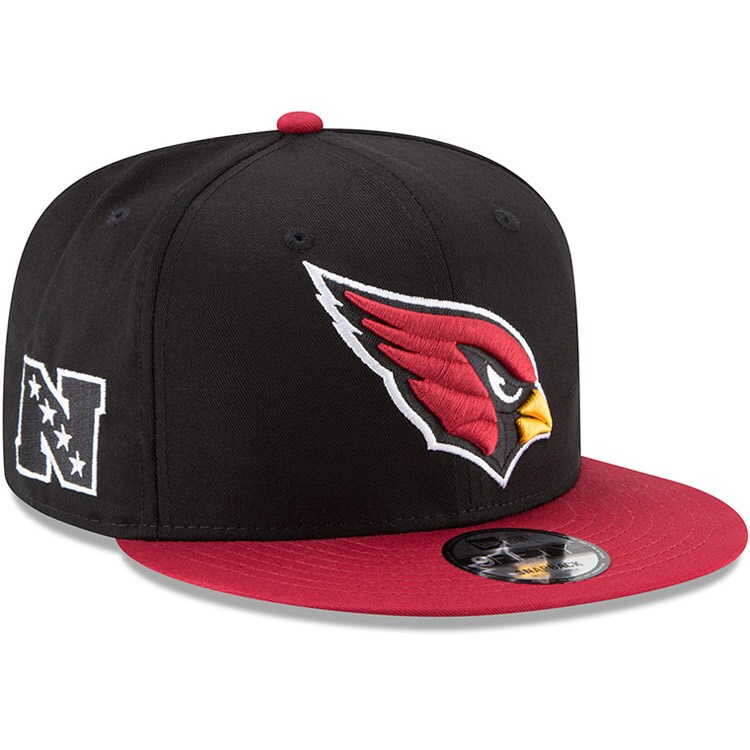 Arizona Cardinals New Era Youth Baycik 9FIFTY Snapback Adjustable Hat - Black/Cardinal