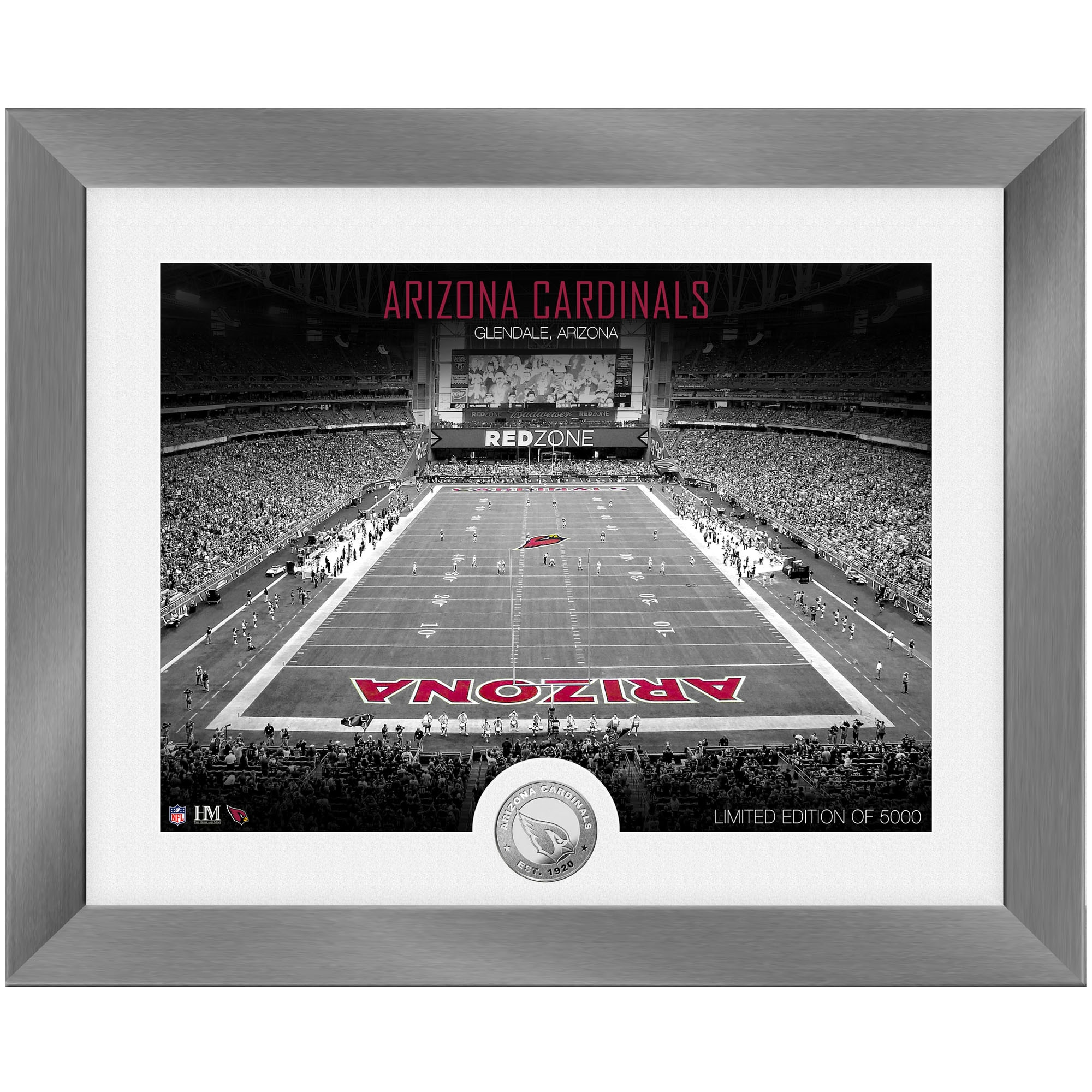 Arizona Cardinals Highland Mint 13'' x 16'' Art Deco Stadium Silver Coin Photo Mint