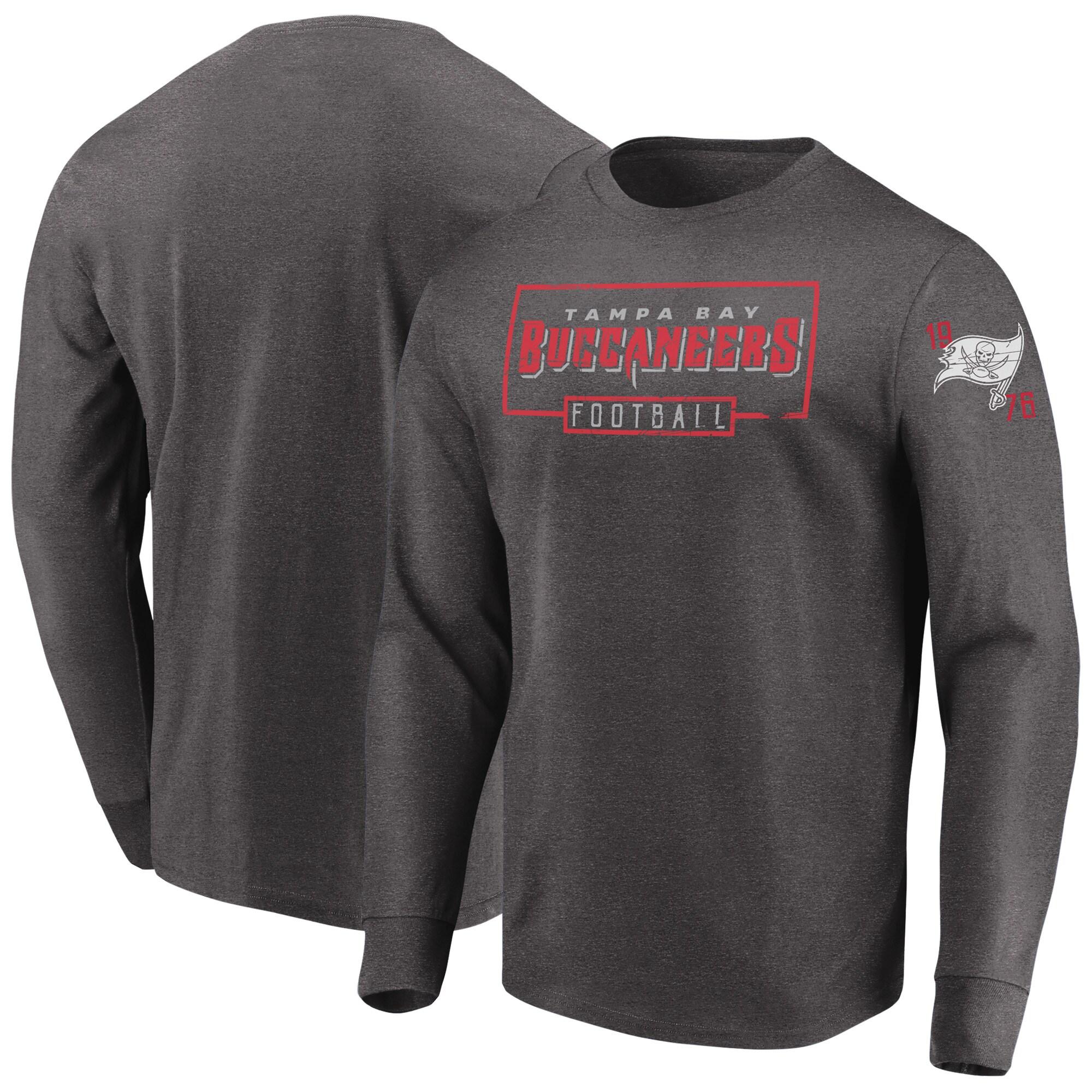 Tampa Bay Buccaneers Majestic Kick Return Long Sleeve T-Shirt - Heathered Charcoal