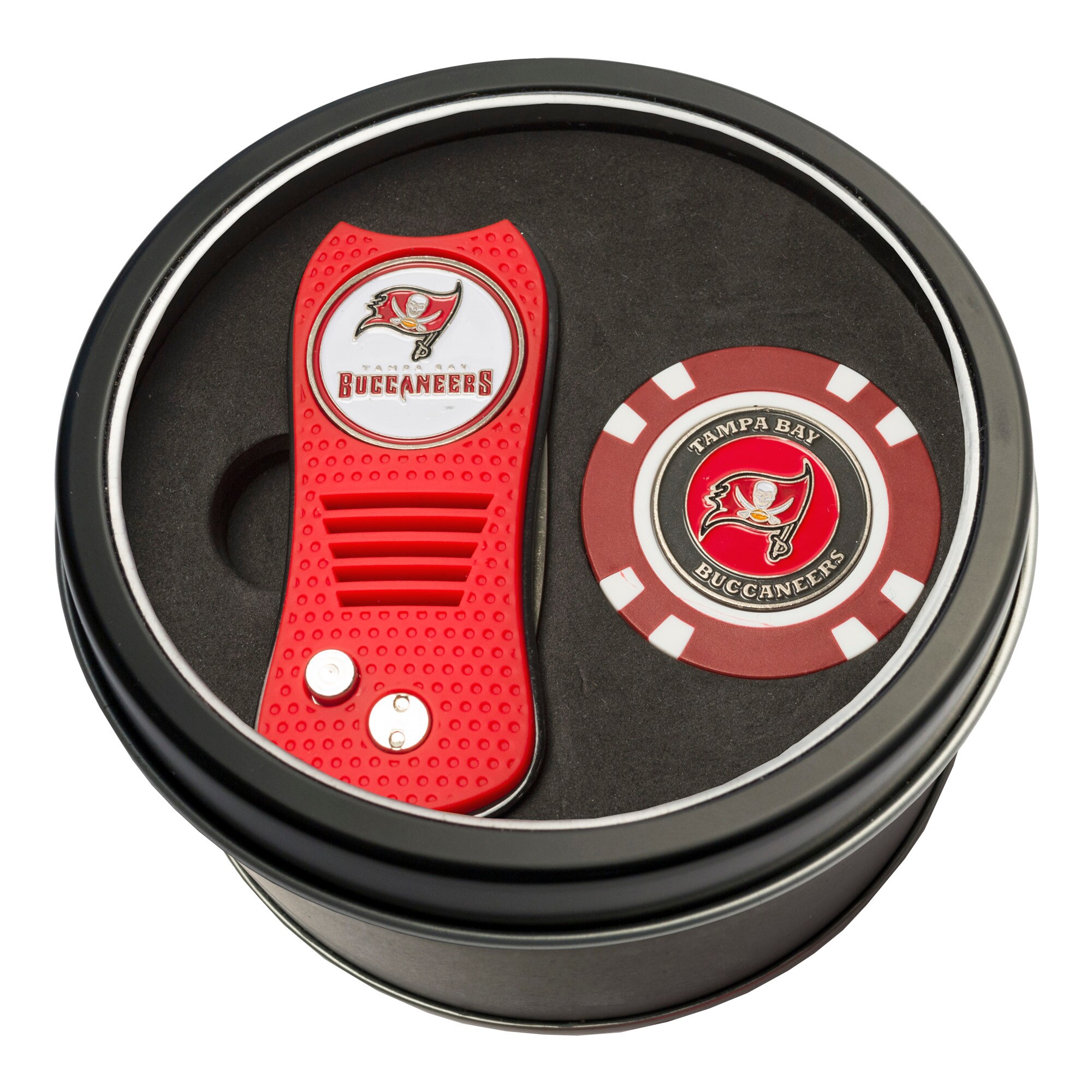 Tampa Bay Buccaneers Switch Chip Golf Tin Set