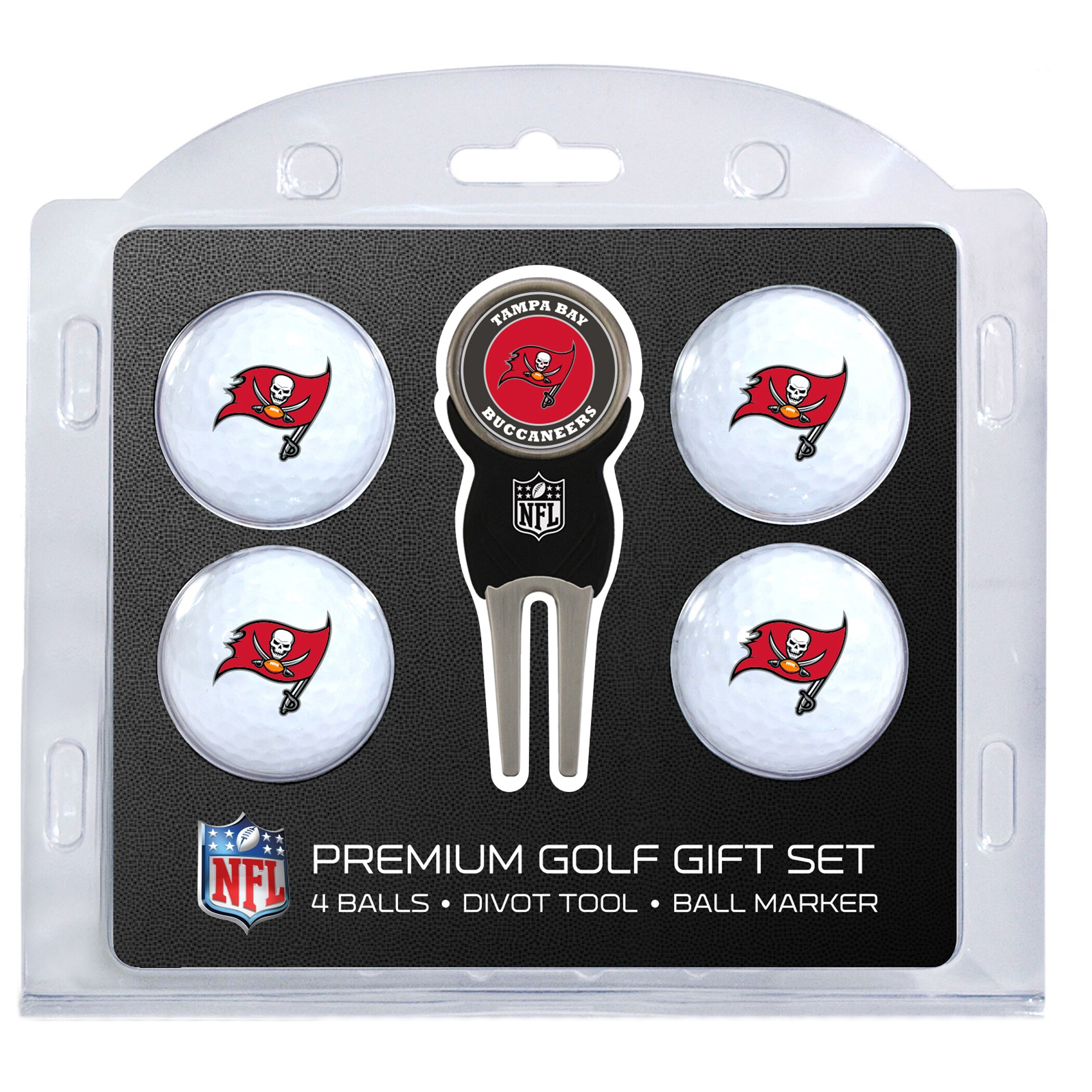 Tampa Bay Buccaneers 4-Ball Gift Set
