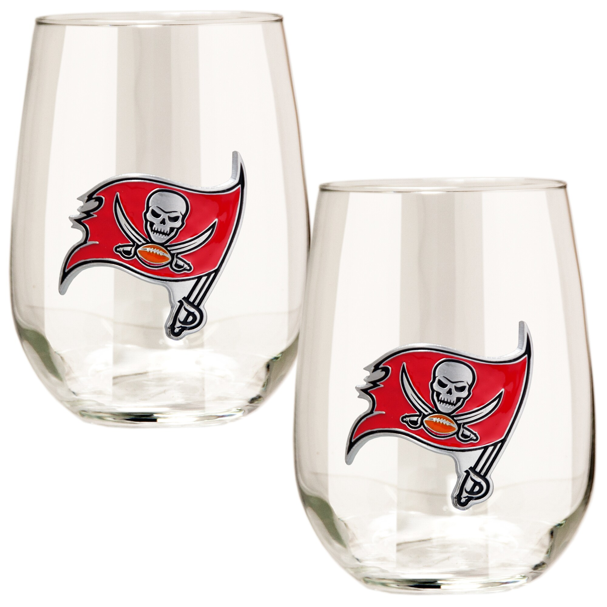Tampa Bay Buccaneers 15oz. Stemless Wine Glass Set
