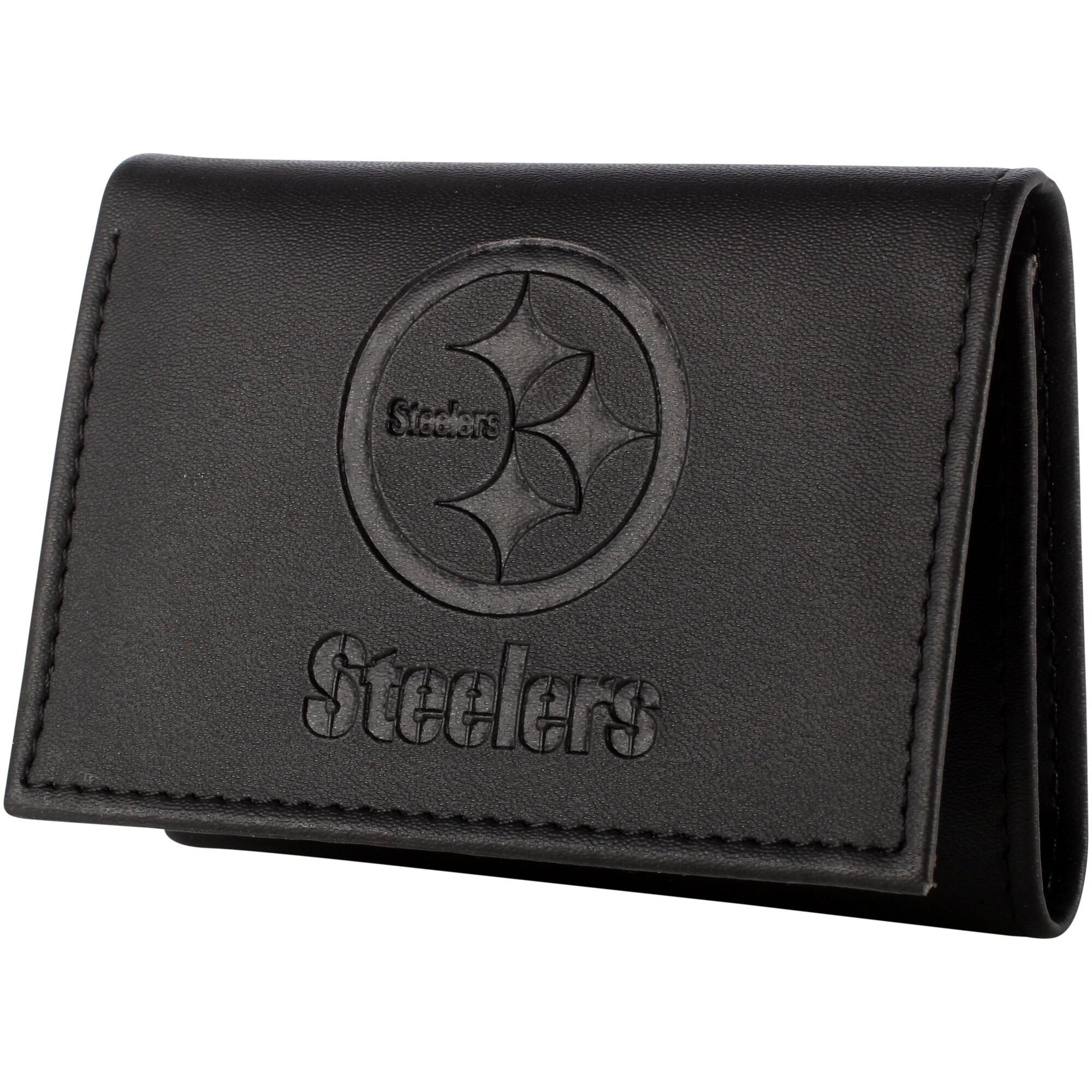 Pittsburgh Steelers Hybrid Tri-Fold Wallet - Black