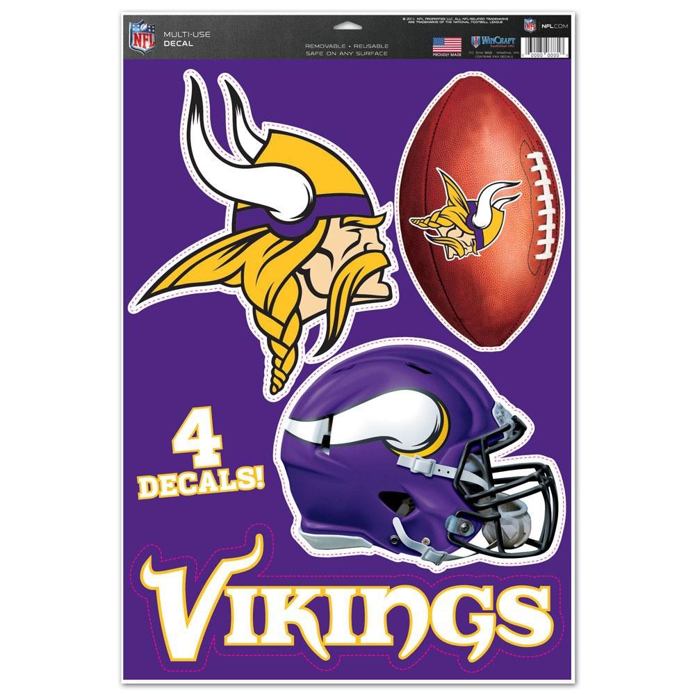 "Minnesota Vikings WinCraft #1 Fan 11"" x 17"" Multi-Use Decal Sheet"