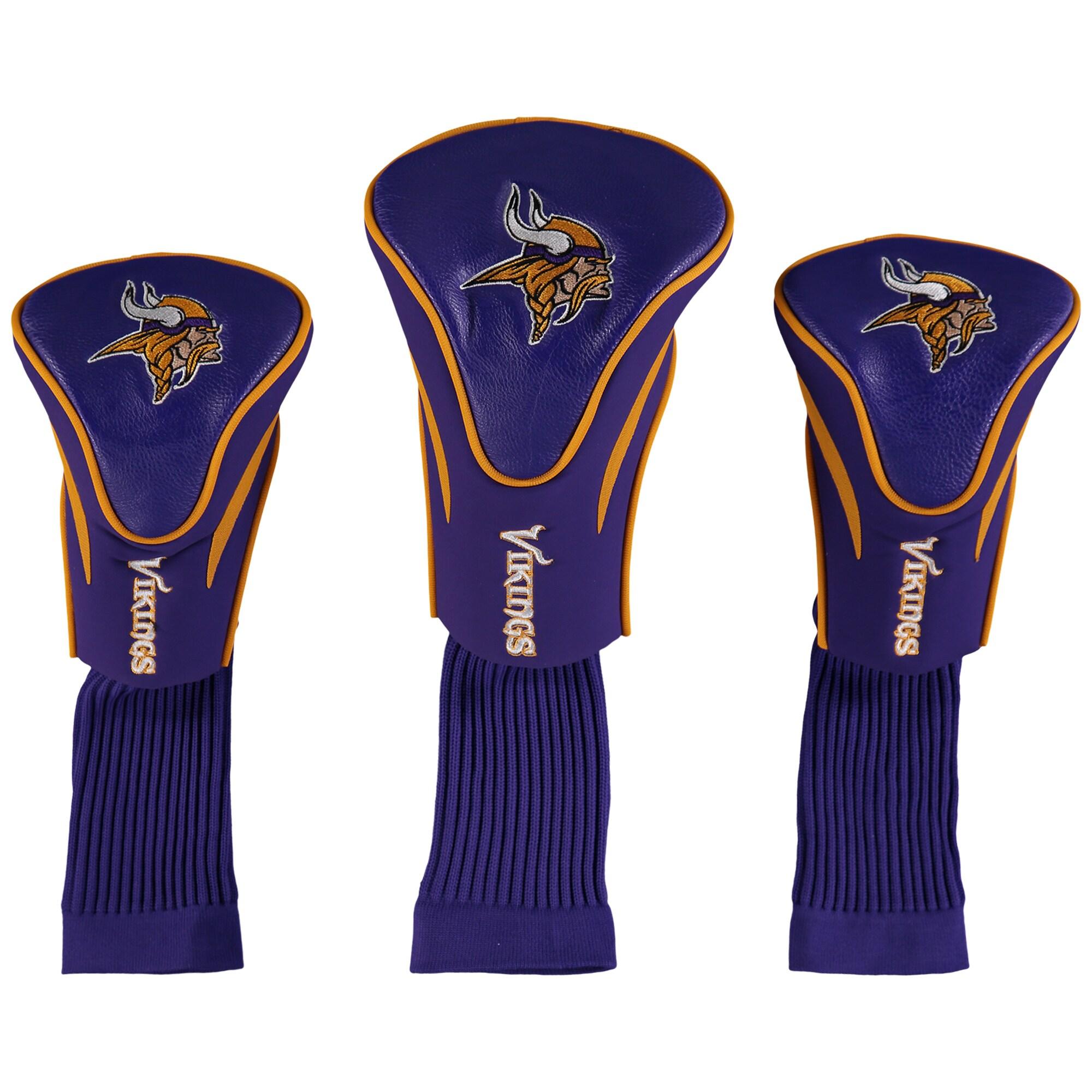 Minnesota Vikings 3-Pack Contour Golf Club Head Covers