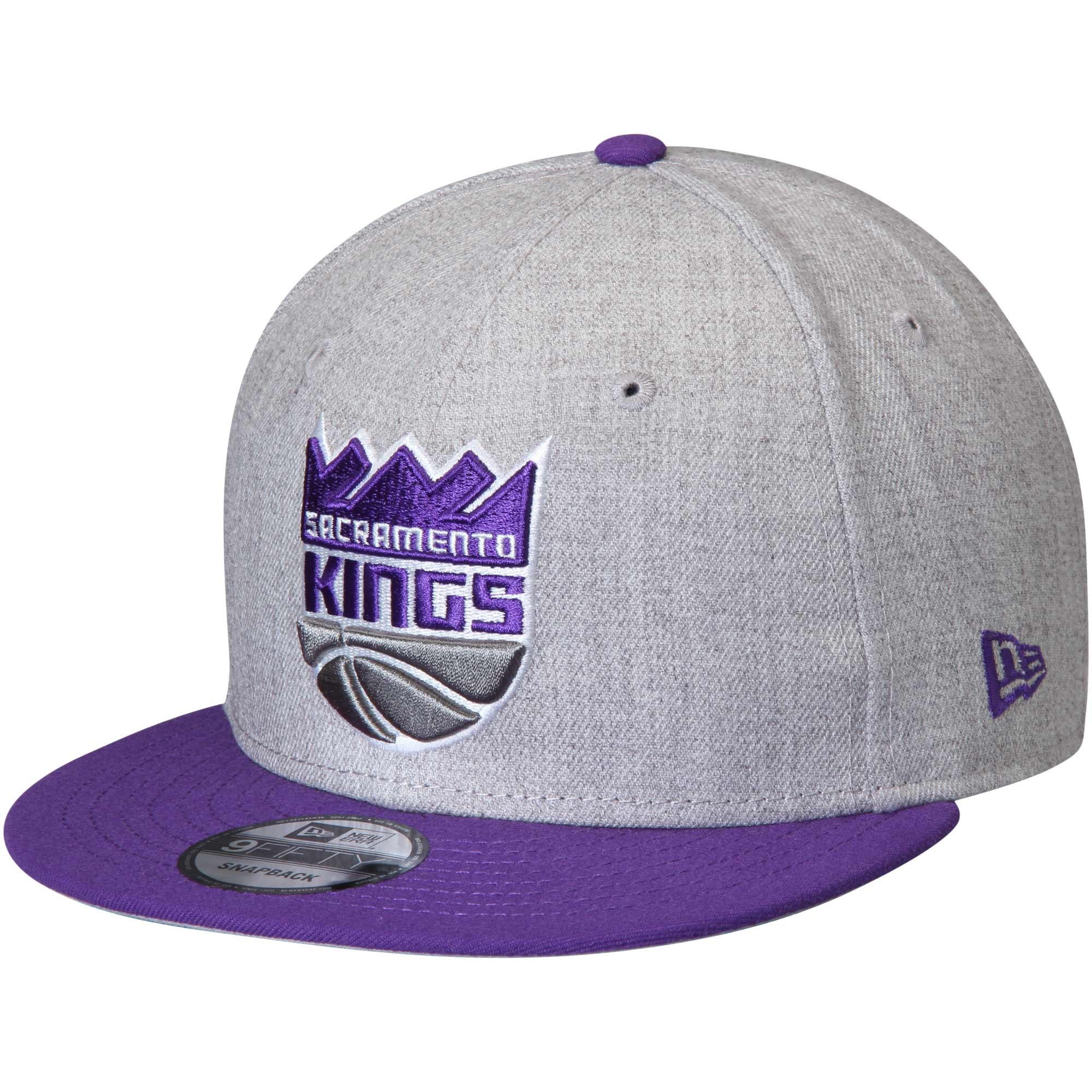 Sacramento Kings New Era 2-Tone 9FIFTY Adjustable Snapback Hat - Heathered Gray/Purple