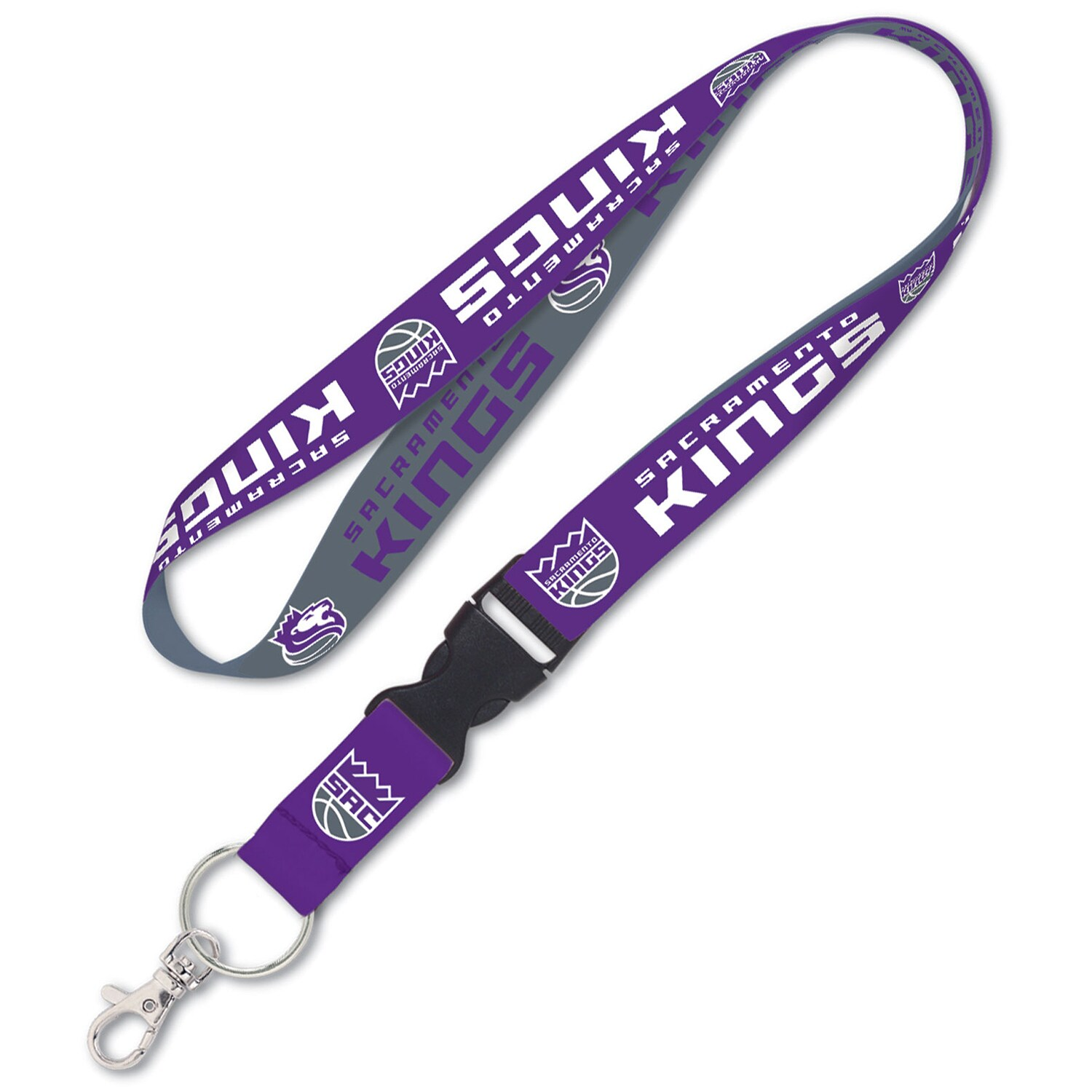 Sacramento Kings WinCraft Wordmark Lanyard with Detachable Buckle -