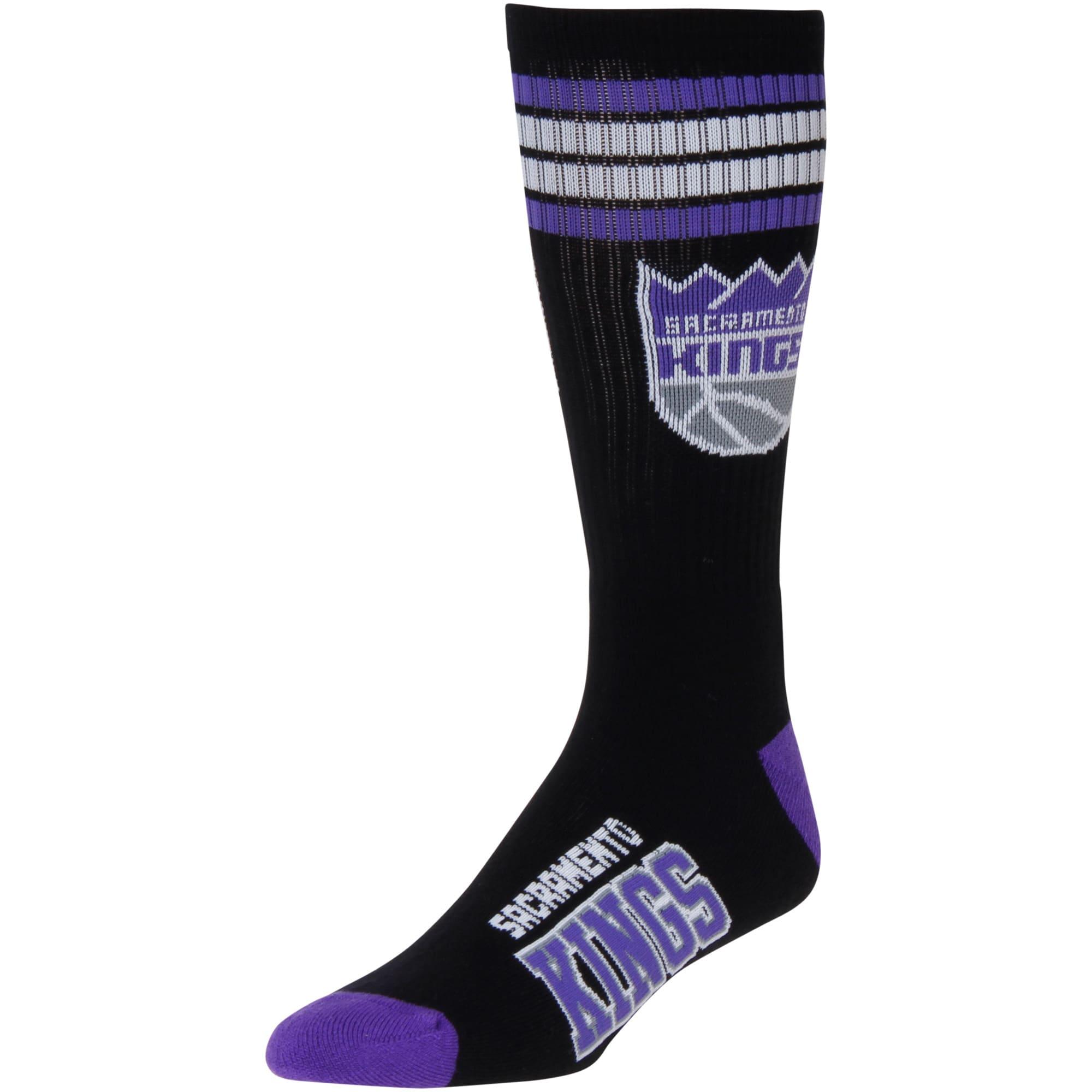 Sacramento Kings For Bare Feet 4-Stripe Deuce Shin Socks