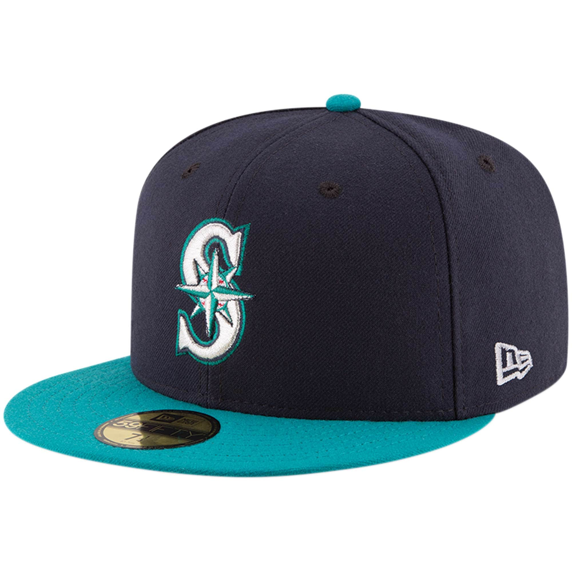 Seattle Mariners New Era Youth Authentic Collection On-Field Alternate 59FIFTY Fitted Hat - Navy/Aqua