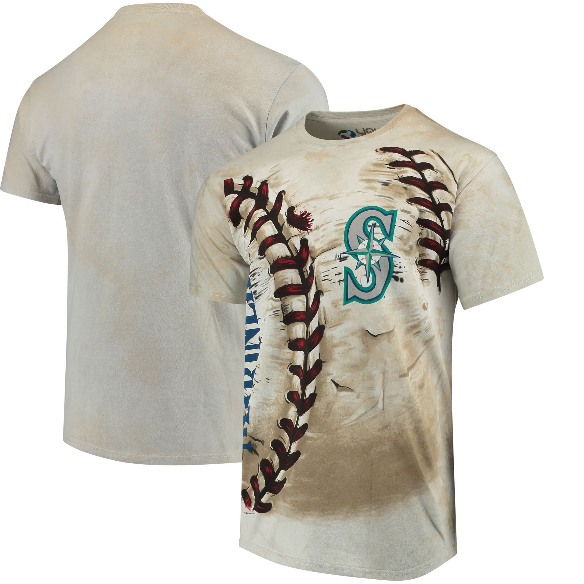 Seattle Mariners Hardball Tie-Dye T- Shirt - Cream
