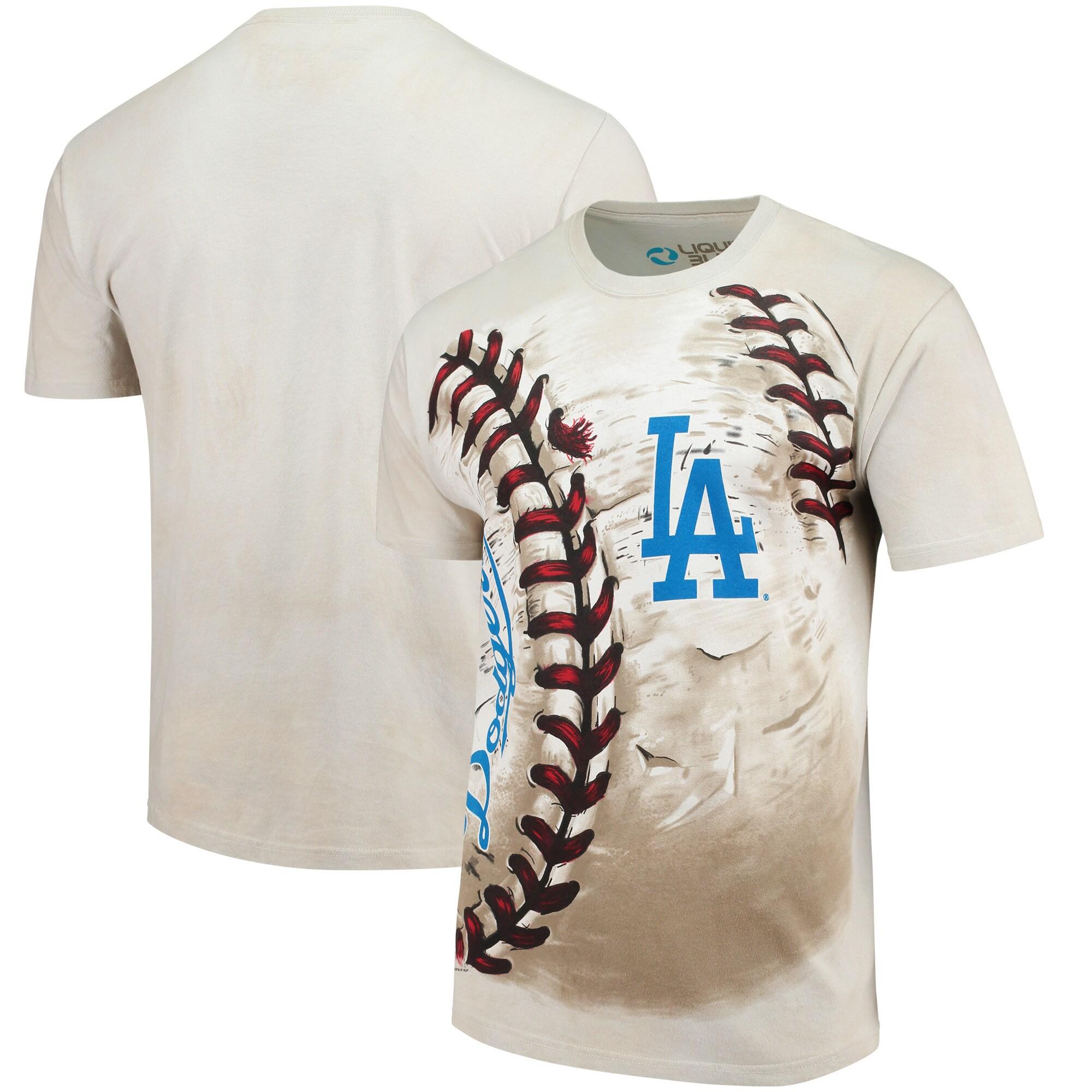 Los Angeles Dodgers Hardball Tie-Dye T-Shirt - Cream