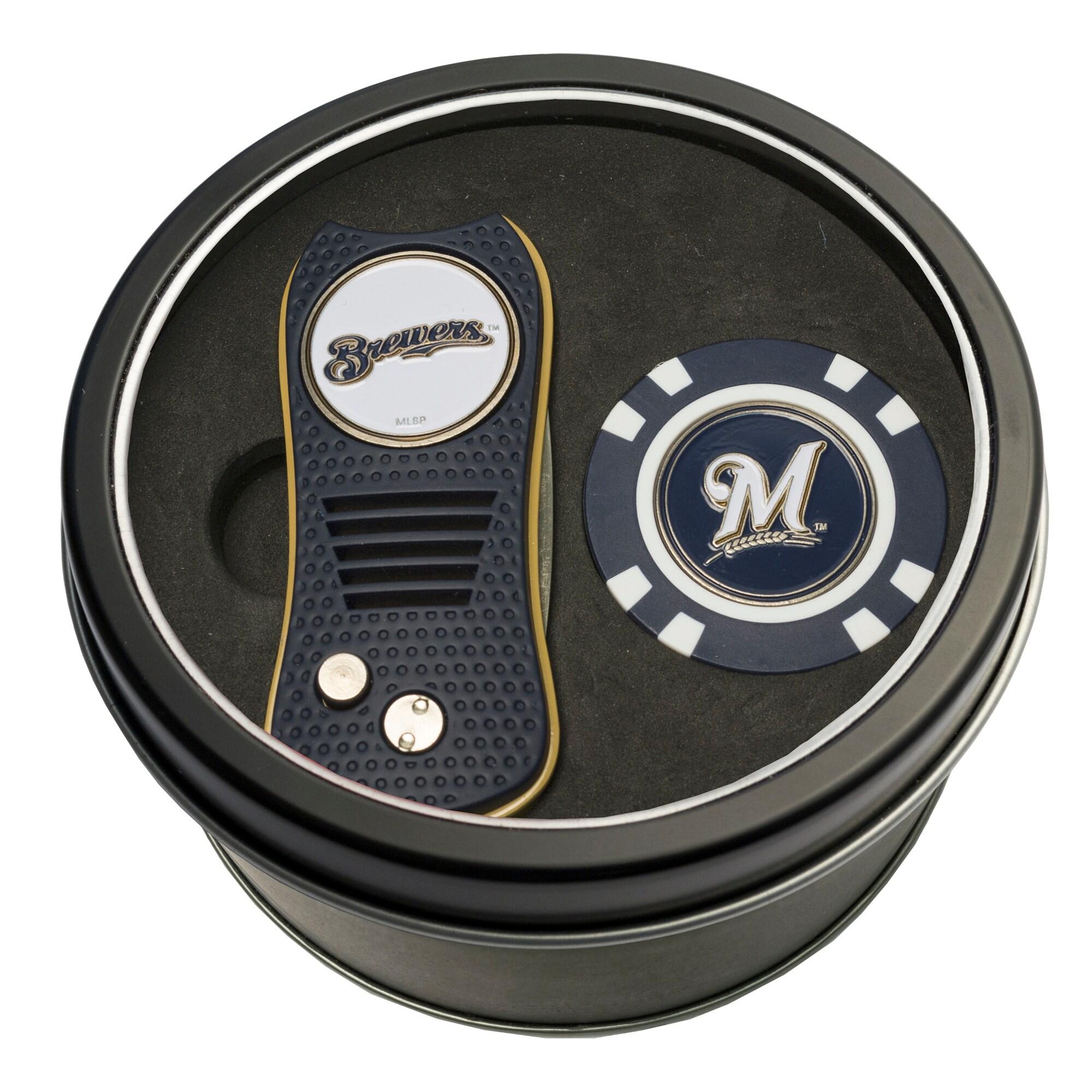 Milwaukee Brewers Switch Chip Golf Tin Set