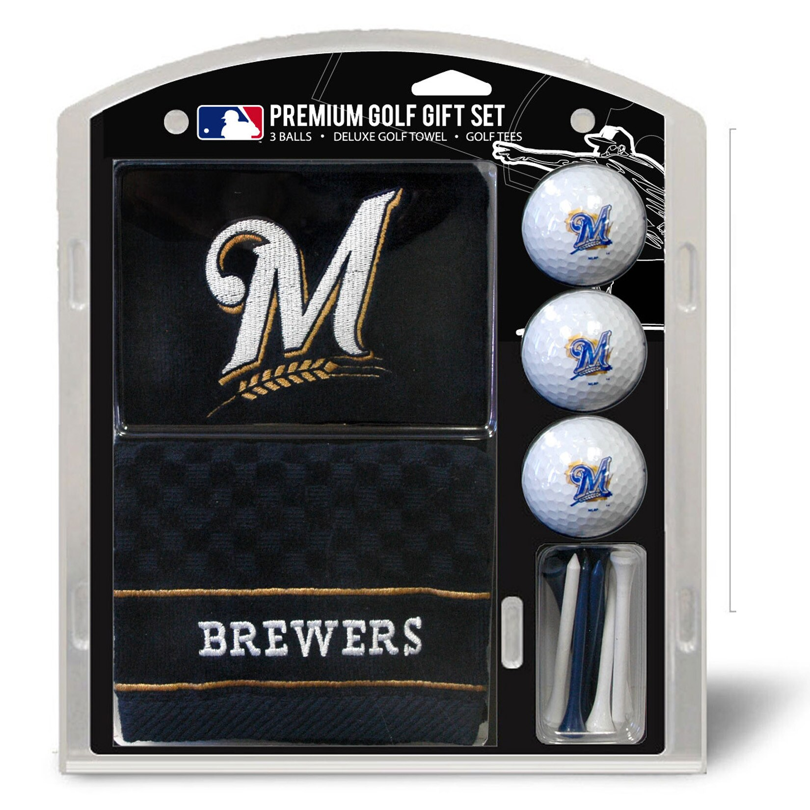 Milwaukee Brewers Embroidered Golf Gift Set