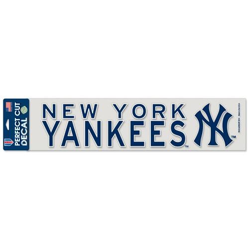 "New York Yankees WinCraft 4"" x 17"" Die Cut Decal - Navy"