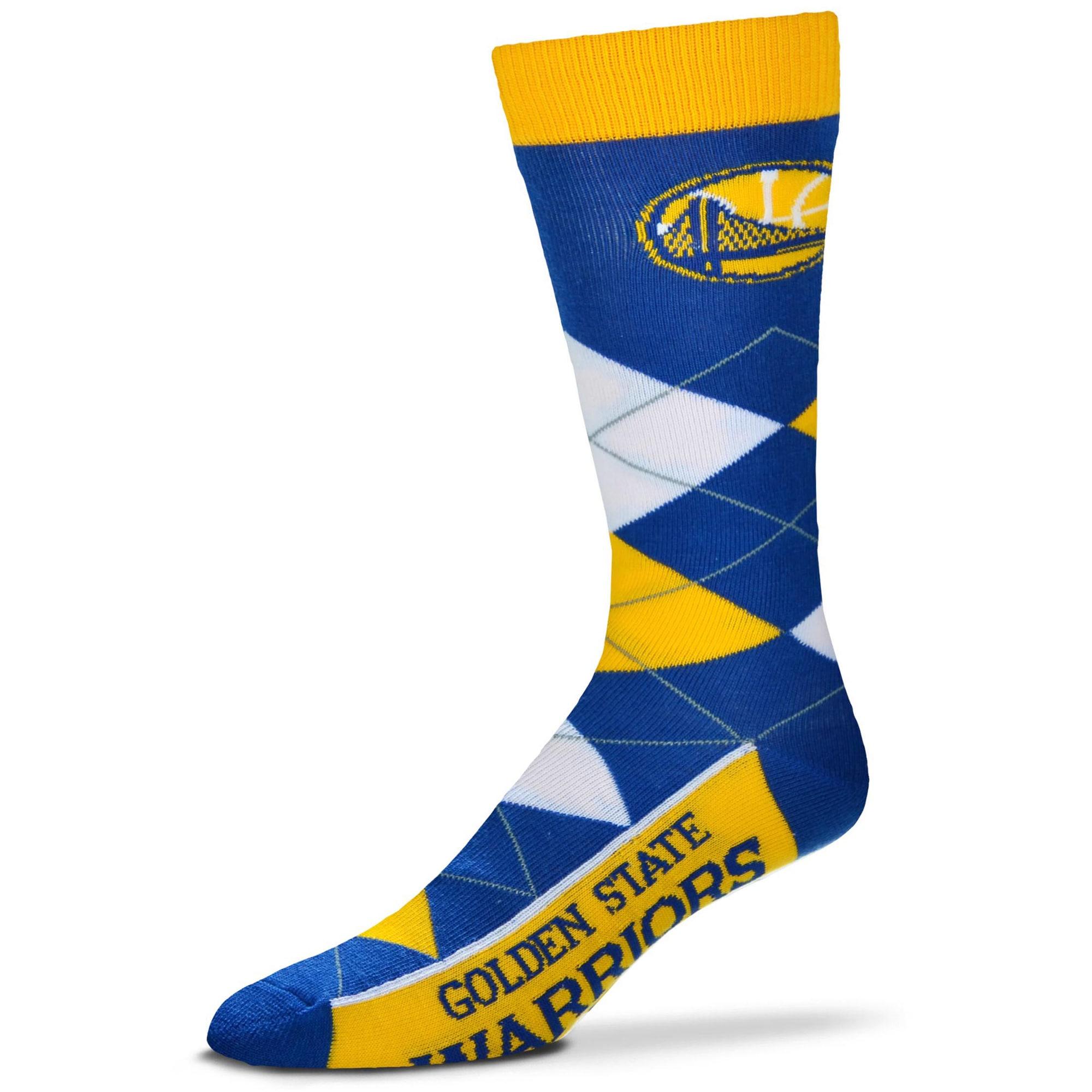 Golden State Warriors For Bare Feet Argyle Crew Socks