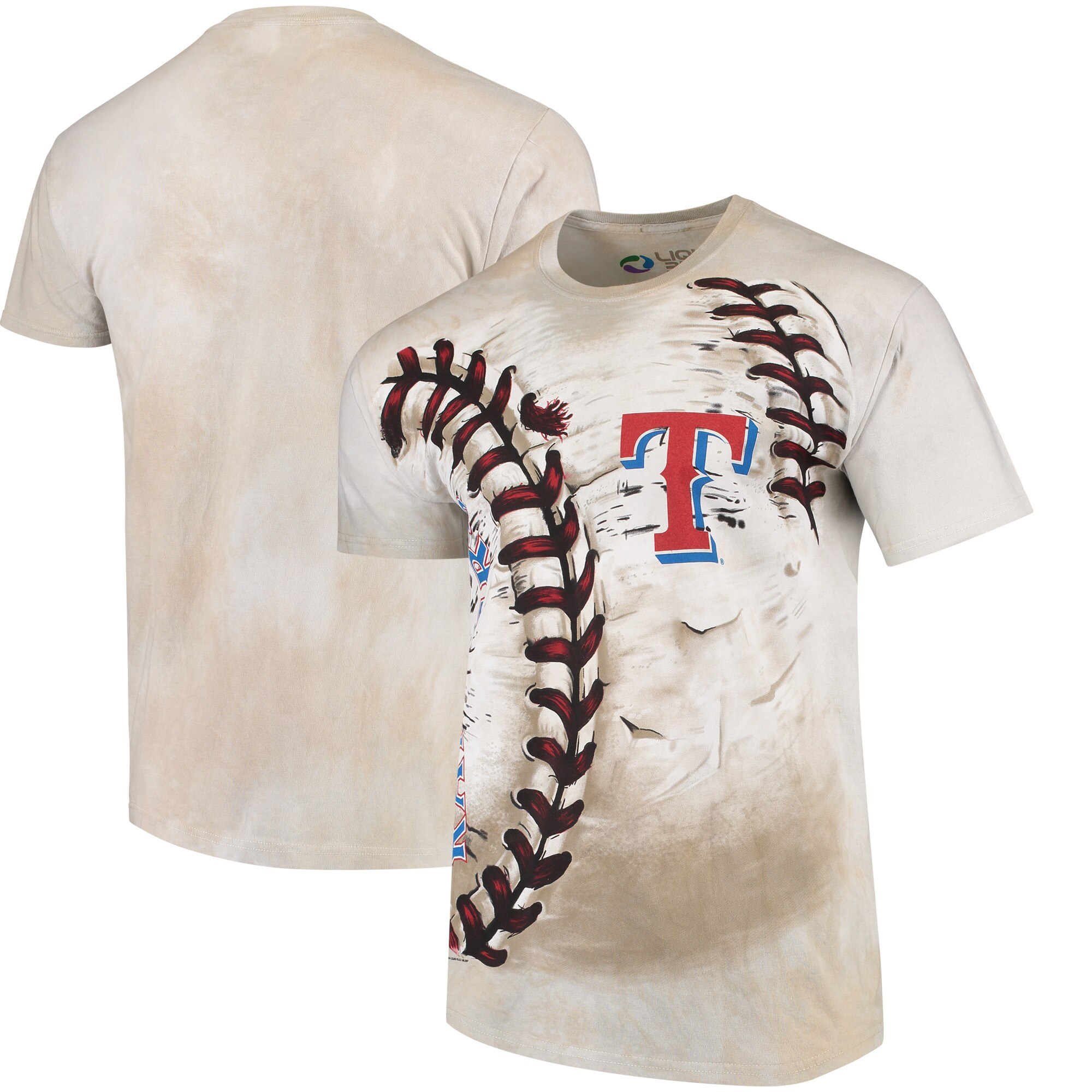 Texas Rangers Hardball Tie-Dye T- Shirt - Cream