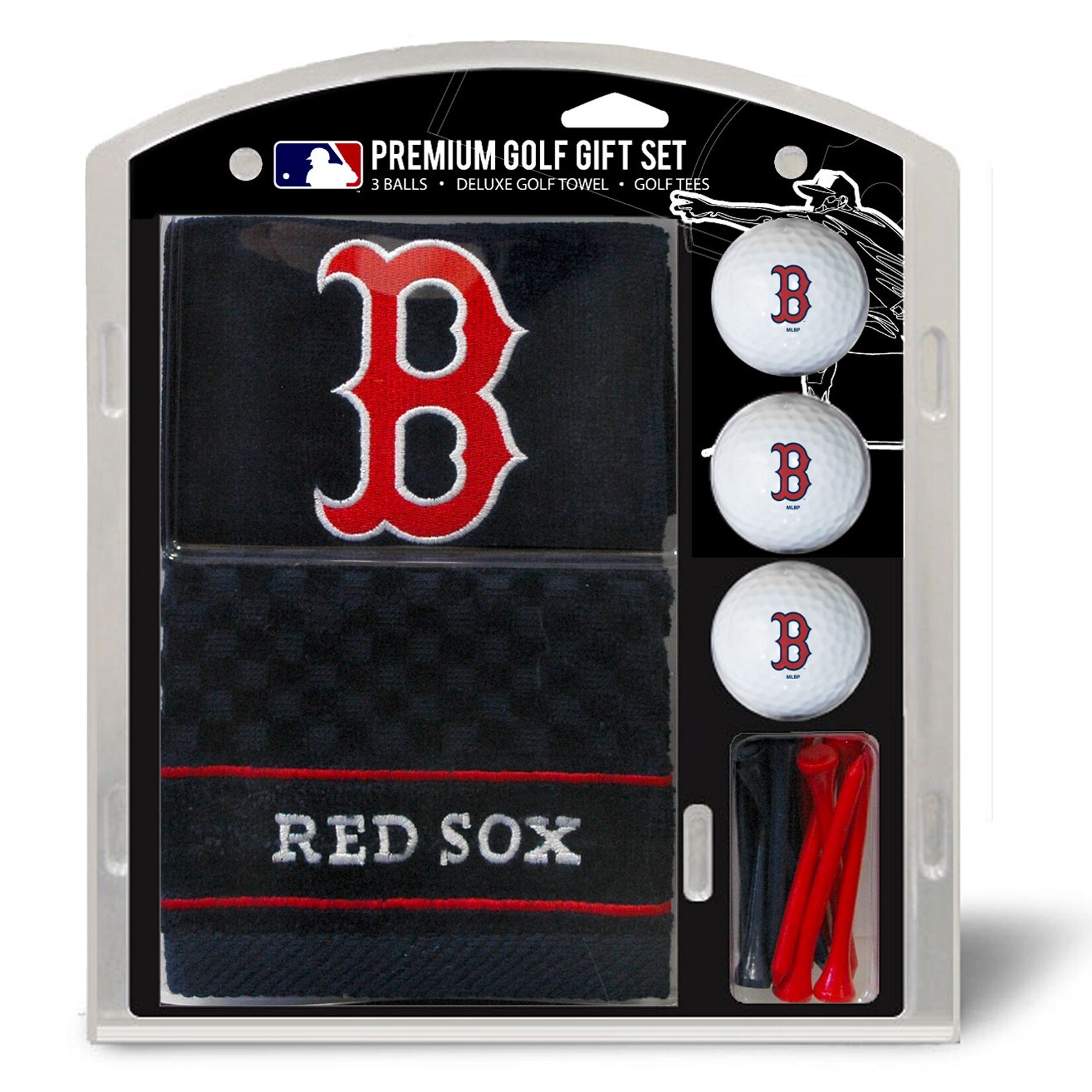 Boston Red Sox Embroidered Golf Gift Set