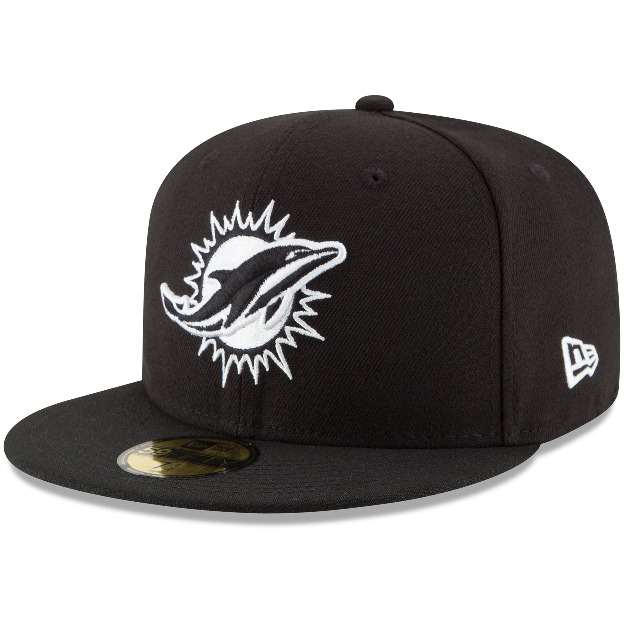 Miami Dolphins New Era B-Dub 59FIFTY Fitted Hat - Black