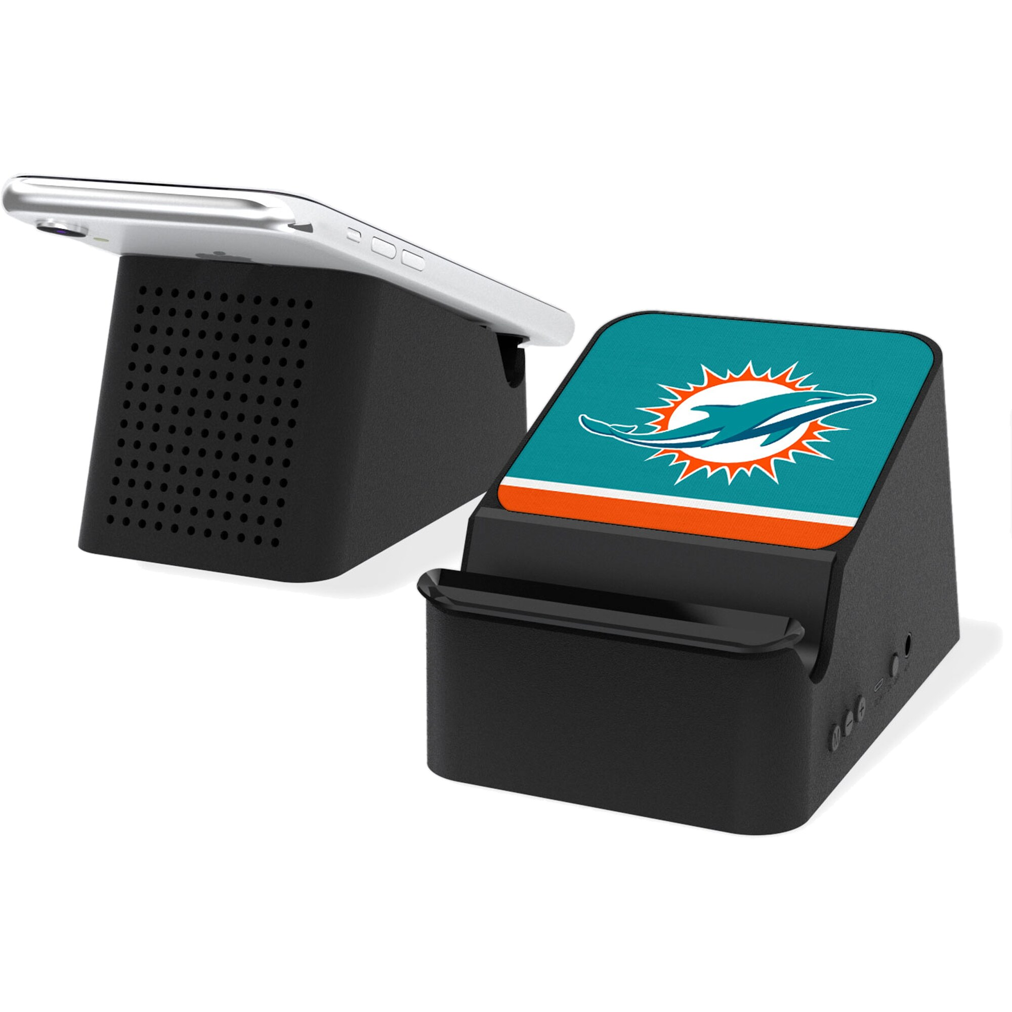 Miami Dolphins Wireless Charging Station and Bluetooth Speaker