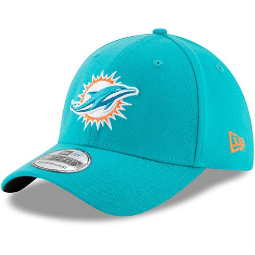 Miami Dolphins New Era 39THIRTY Flex Team Classic Hat - Aqua