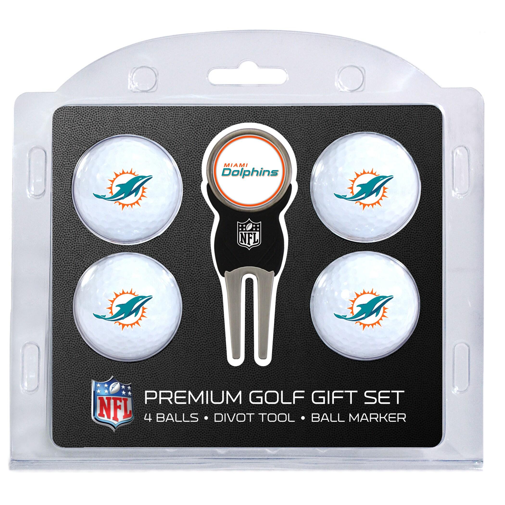 Miami Dolphins 4-Ball Gift Set