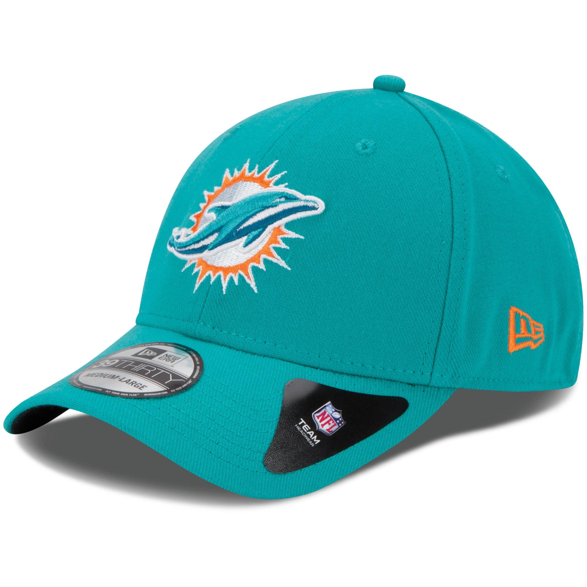 Miami Dolphins New Era Youth Team Classic 39THIRTY Flex Hat - Aqua