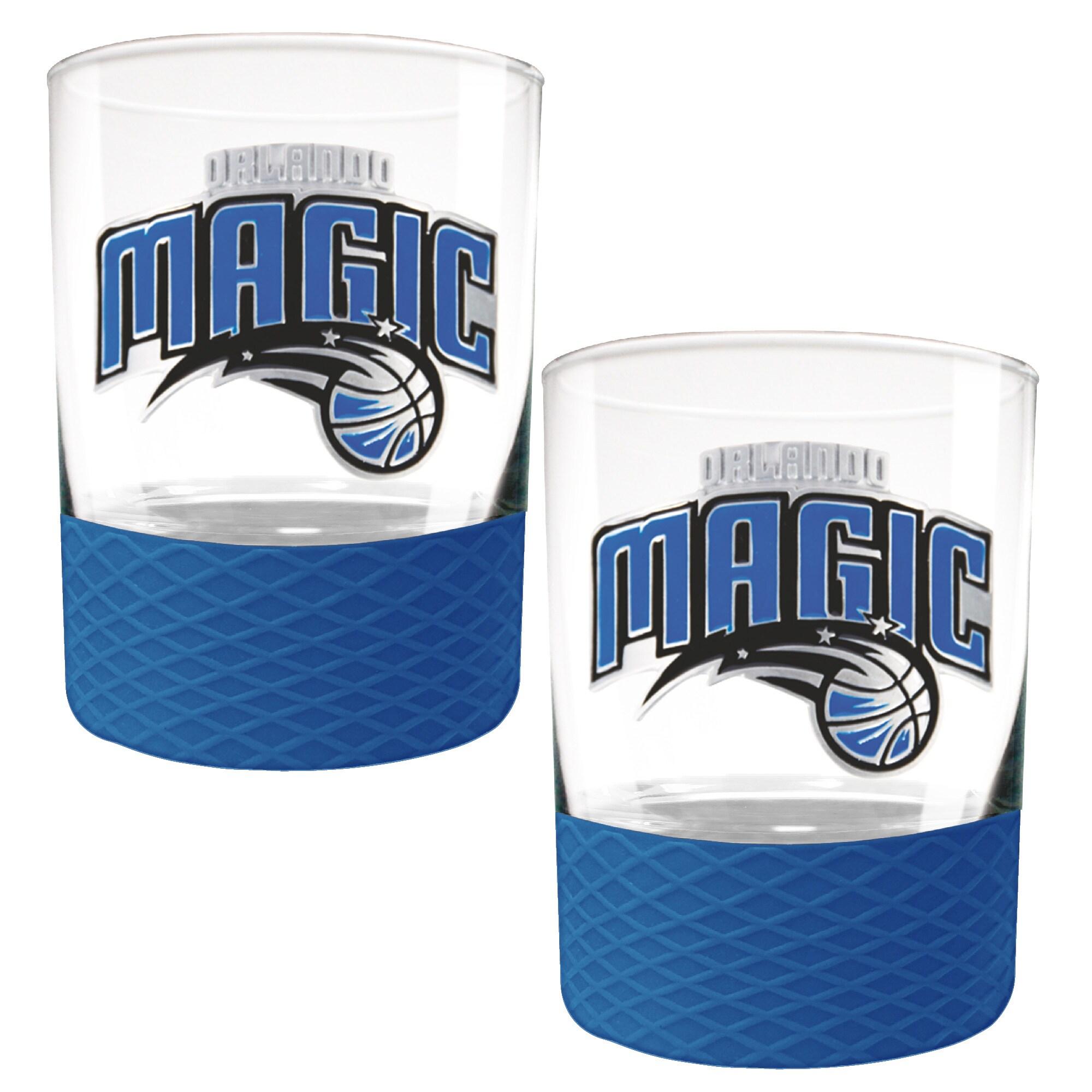 Orlando Magic 2-Pack 14oz. Rocks Glass Set with Silcone Grip