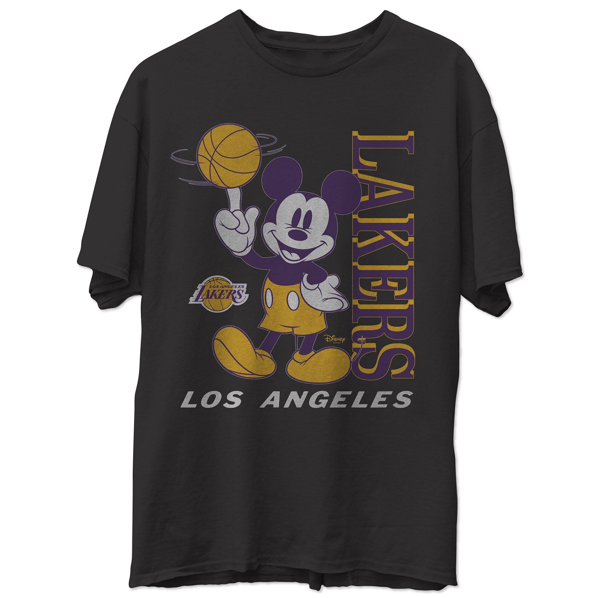 Los Angeles Lakers Junk Food Disney Vintage Mickey Baller T-Shirt - Black