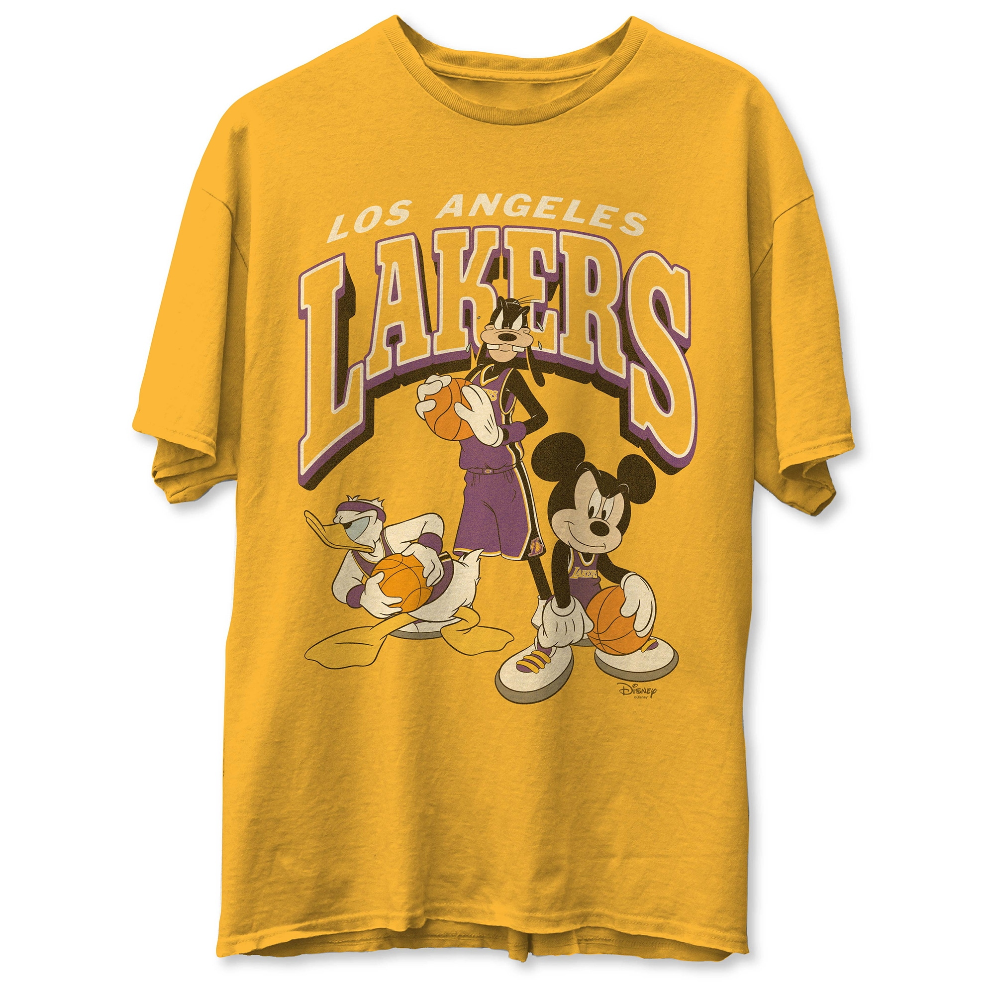 Los Angeles Lakers Junk Food Disney Mickey Squad T-Shirt - Gold