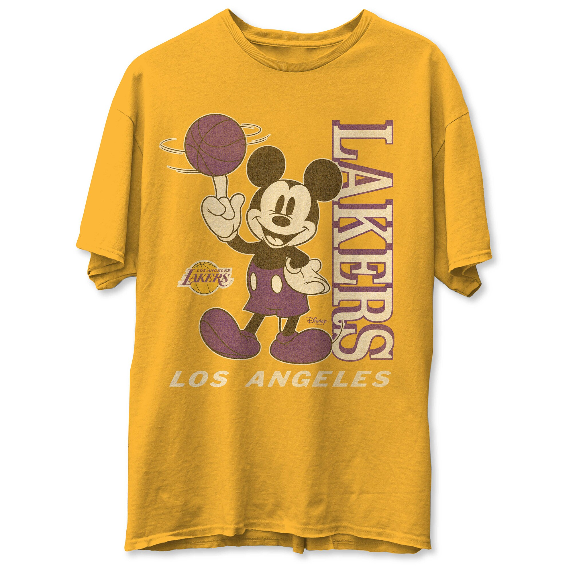 Los Angeles Lakers Junk Food Vintage Mickey Baller T-Shirt - Gold