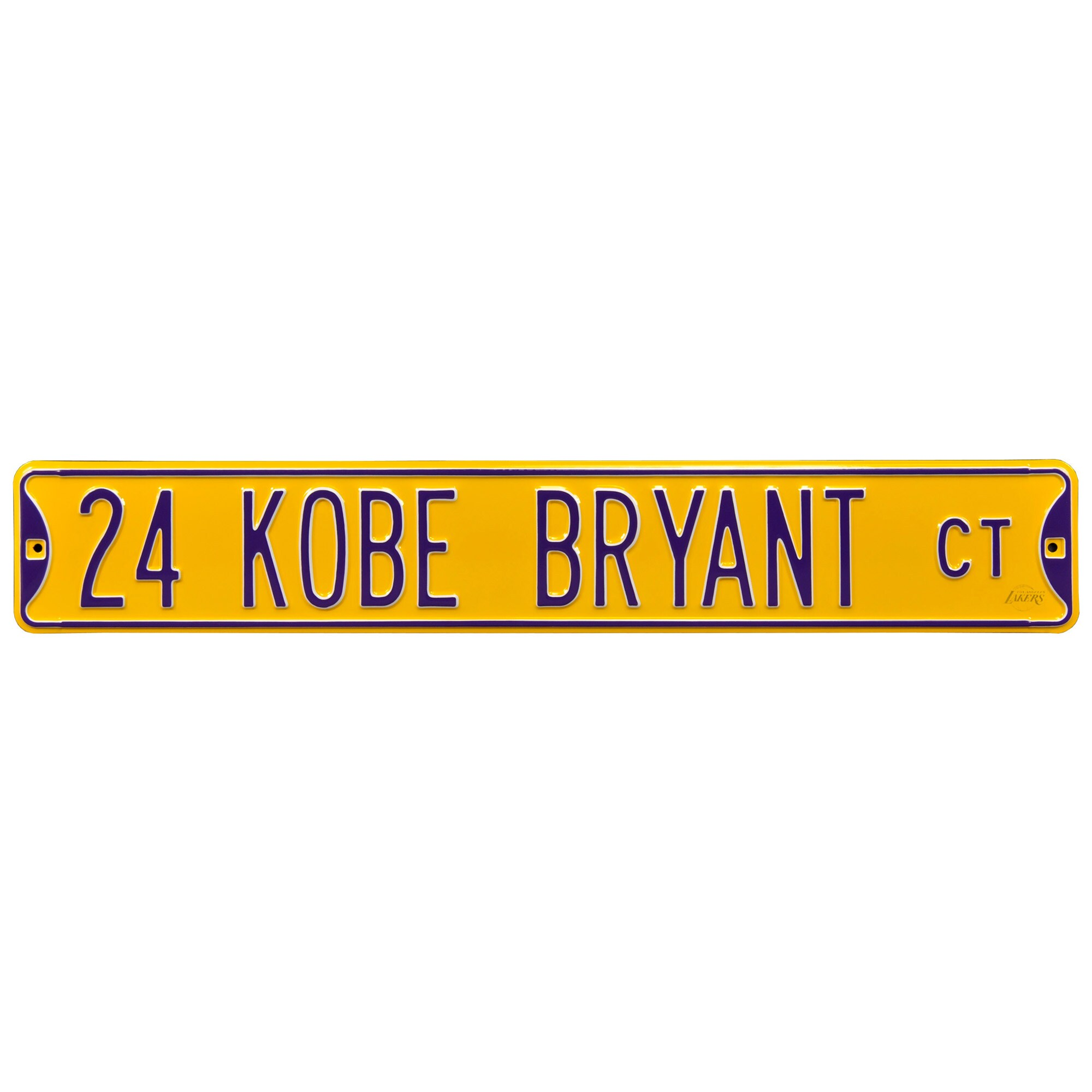 "Kobe Bryant Los Angeles Lakers 6"" x 36"" Steel Street Sign"
