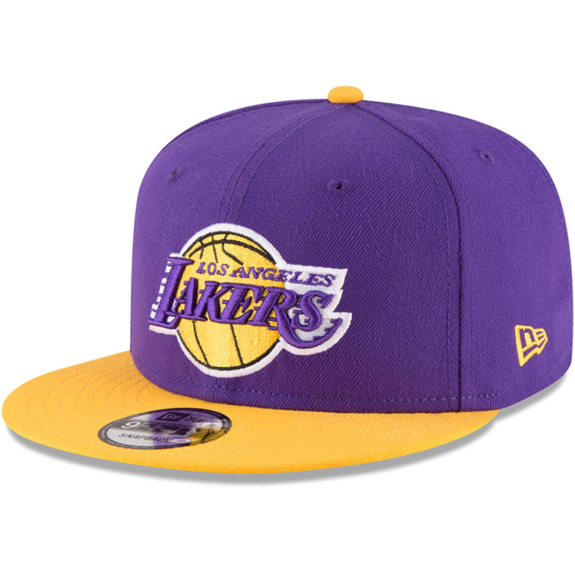 Los Angeles Lakers New Era 2-Tone Original Fit 9FIFTY Adjustable Snapback Hat - Purple/Gold