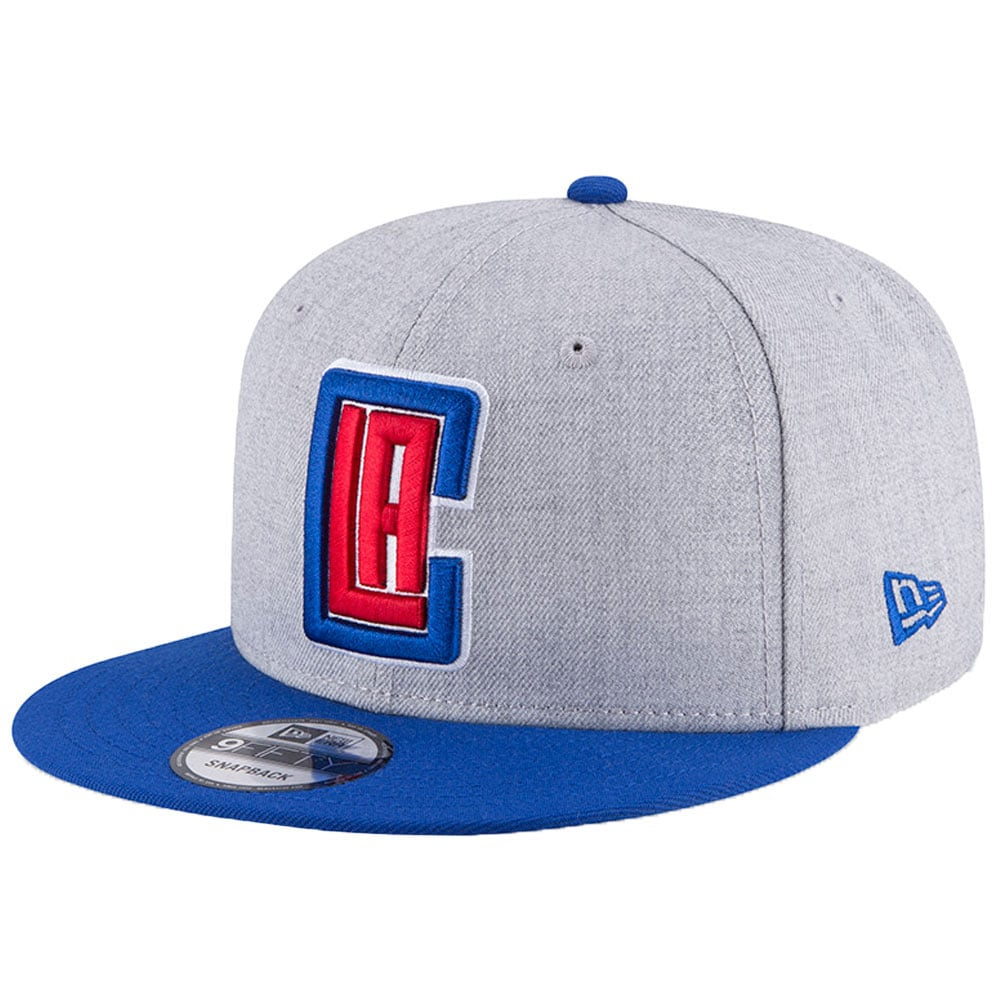 LA Clippers New Era Two-Tone 9FIFTY Snapback Adjustable Hat - Heathered Gray/Royal