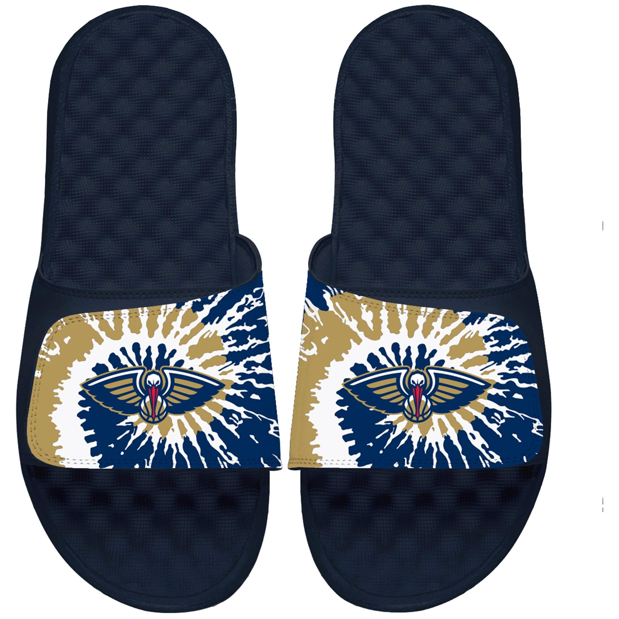 New Orleans Pelicans ISlide Tie Dye Slide Sandals - Navy