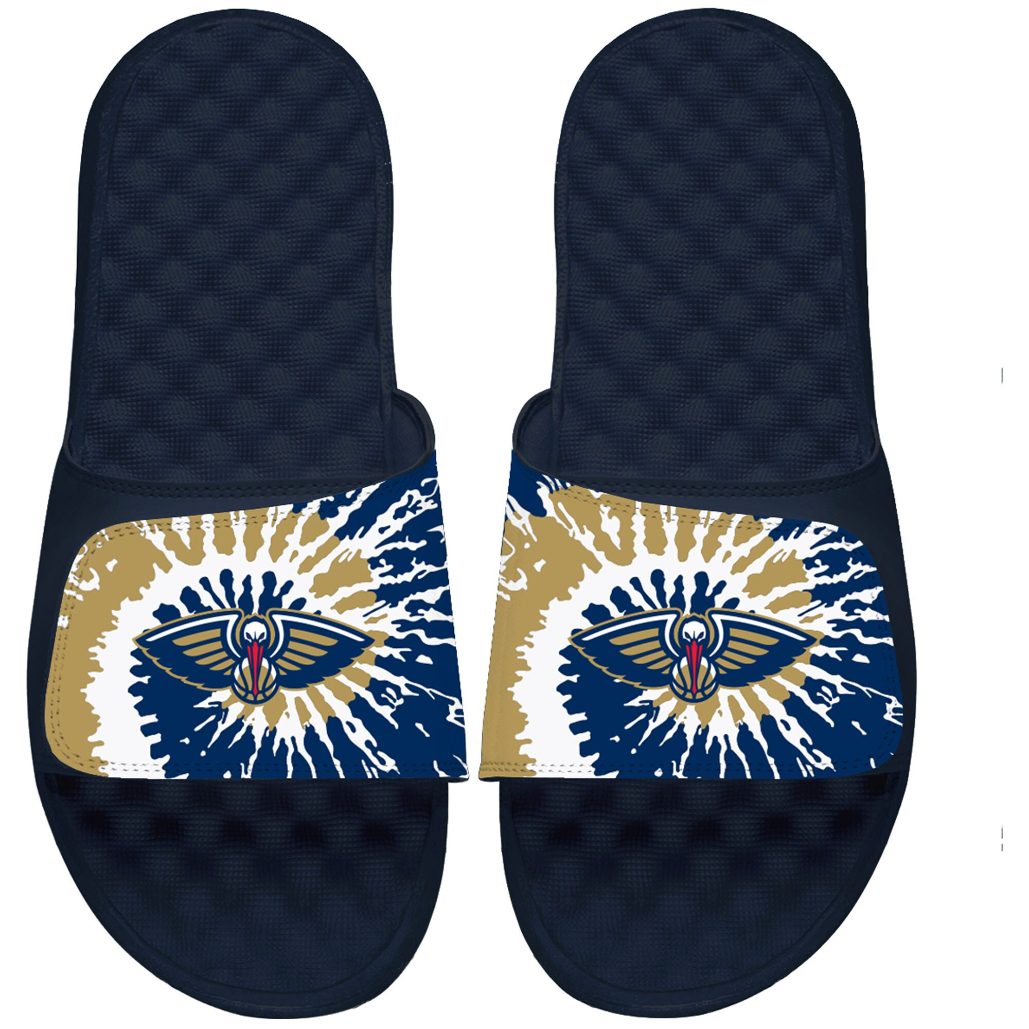 New Orleans Pelicans ISlide Youth Tie Dye Slide Sandals - Navy