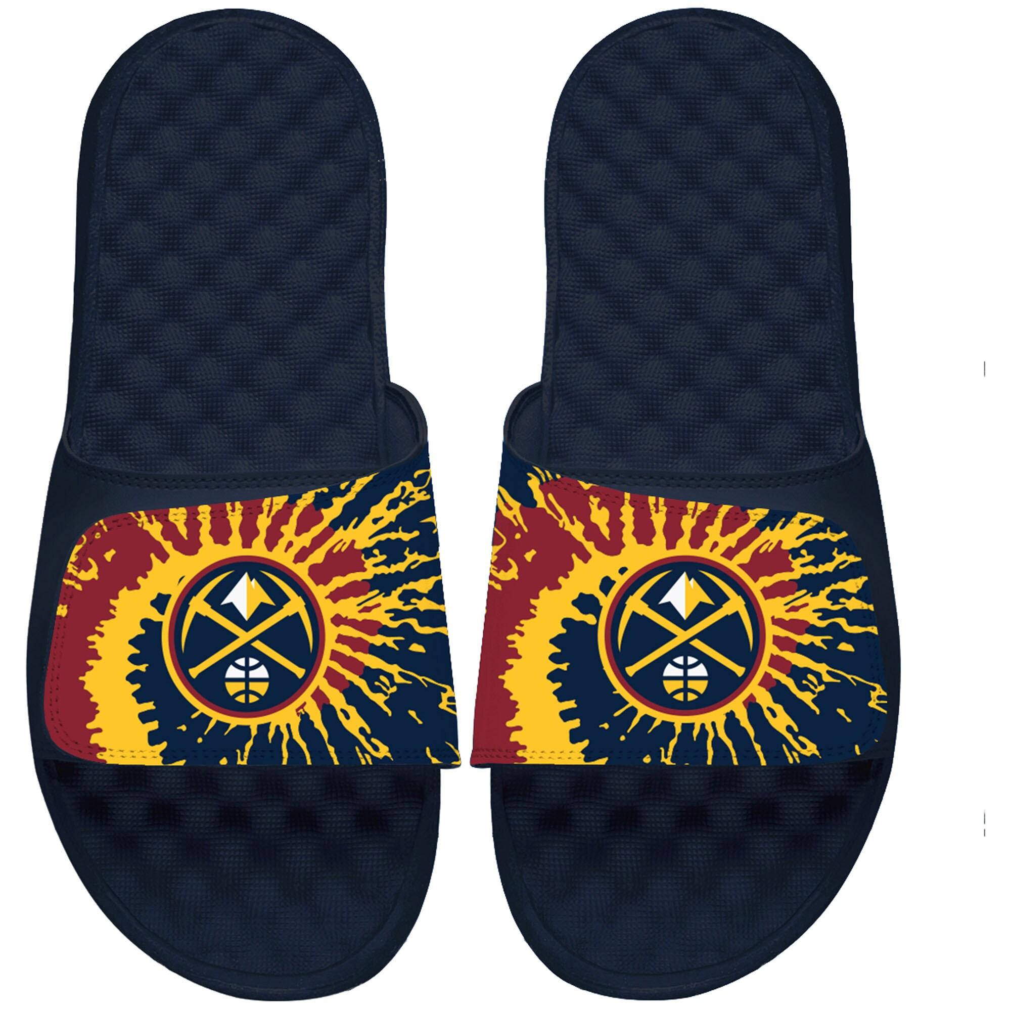 Denver Nuggets ISlide Youth Tie Dye Slide Sandals - Navy