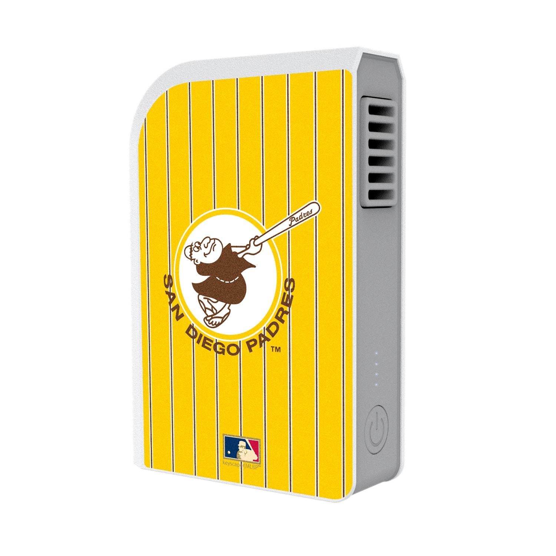 San Diego Padres Cooperstown 6000 mAh Phone Charging Powerbank & Personal Fan