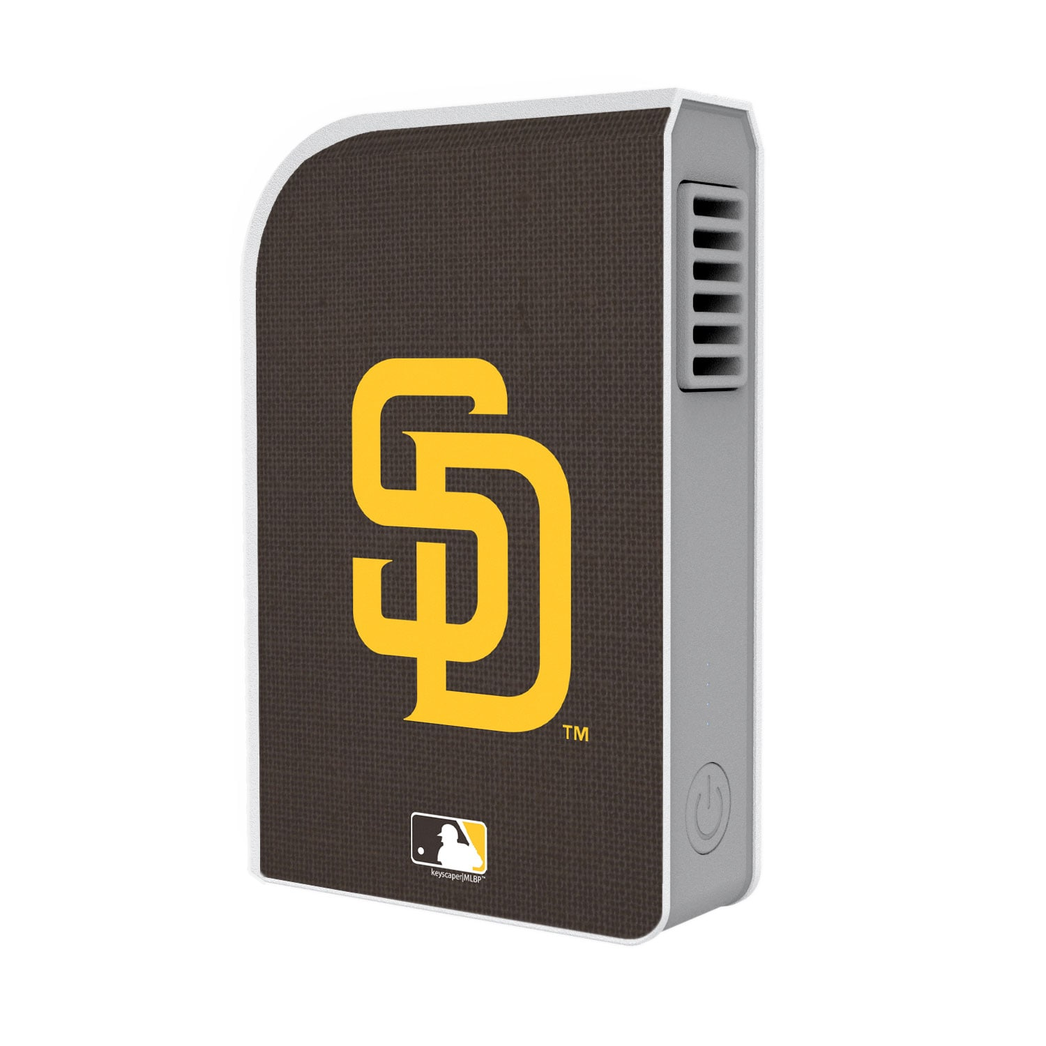 San Diego Padres Solid 6000 mAh Phone Charging Powerbank & Personal Fan
