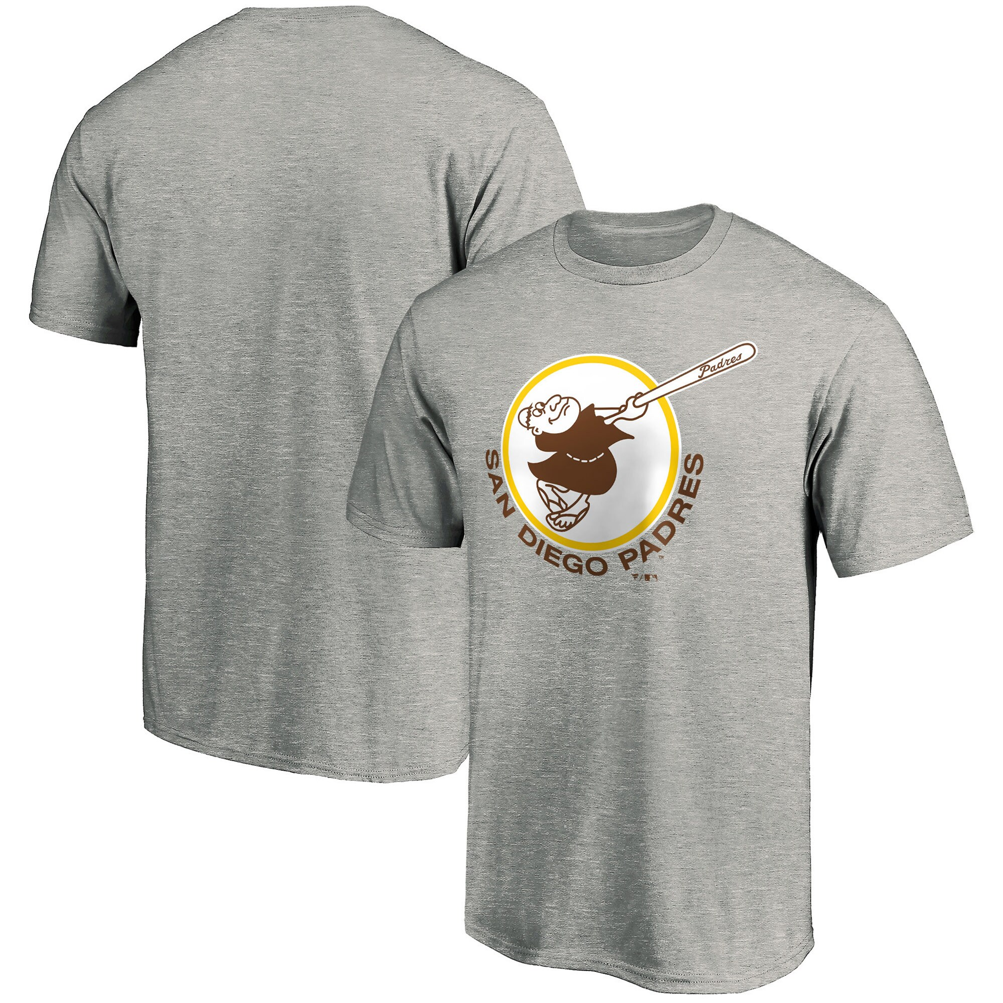 San Diego Padres Fanatics Branded Cooperstown Collection Forbes Team T-Shirt - Heathered Gray