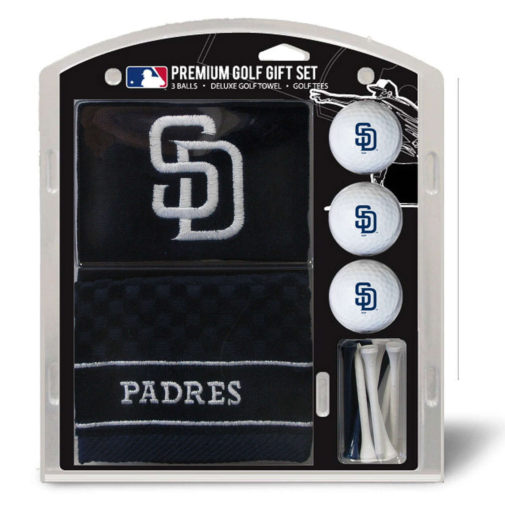 San Diego Padres Embroidered Golf Gift Set