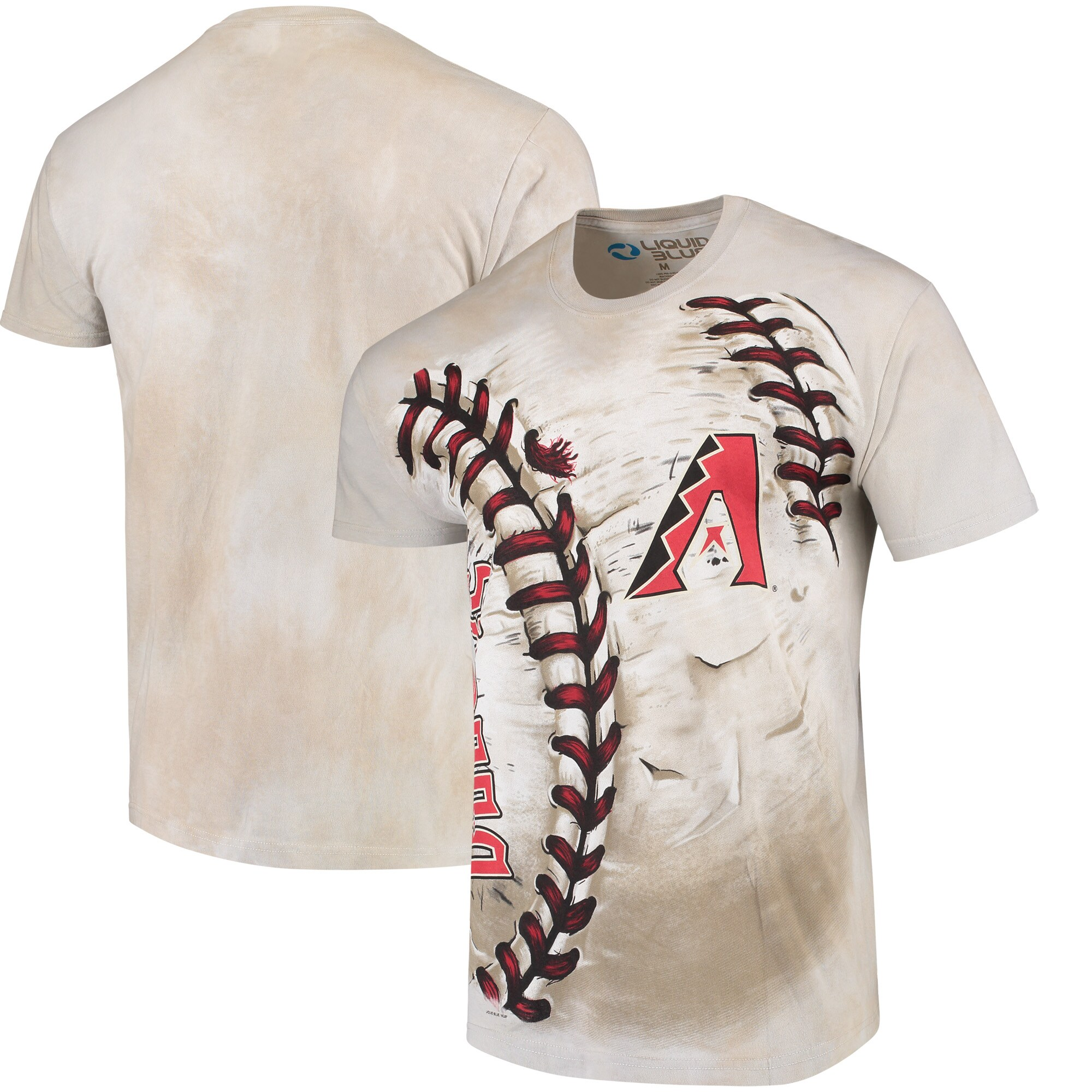 Arizona Diamondbacks Hardball Tie-Dye T- Shirt - Cream