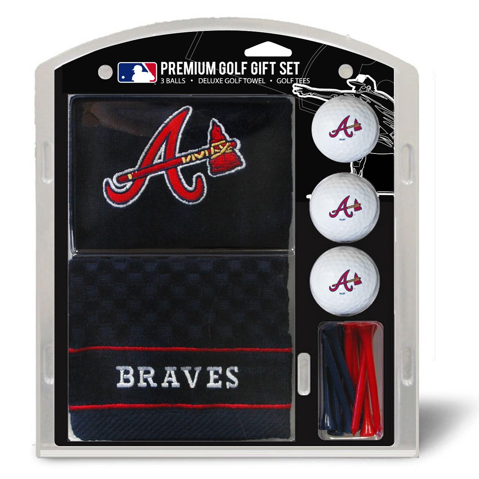 Atlanta Braves Embroidered Golf Gift Set