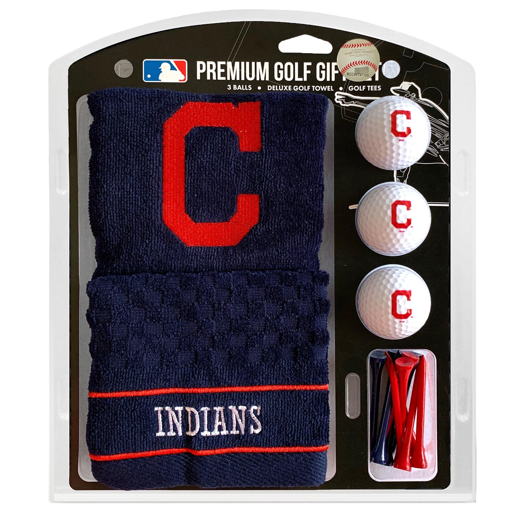 Cleveland Indians Embroidered Golf Gift Set