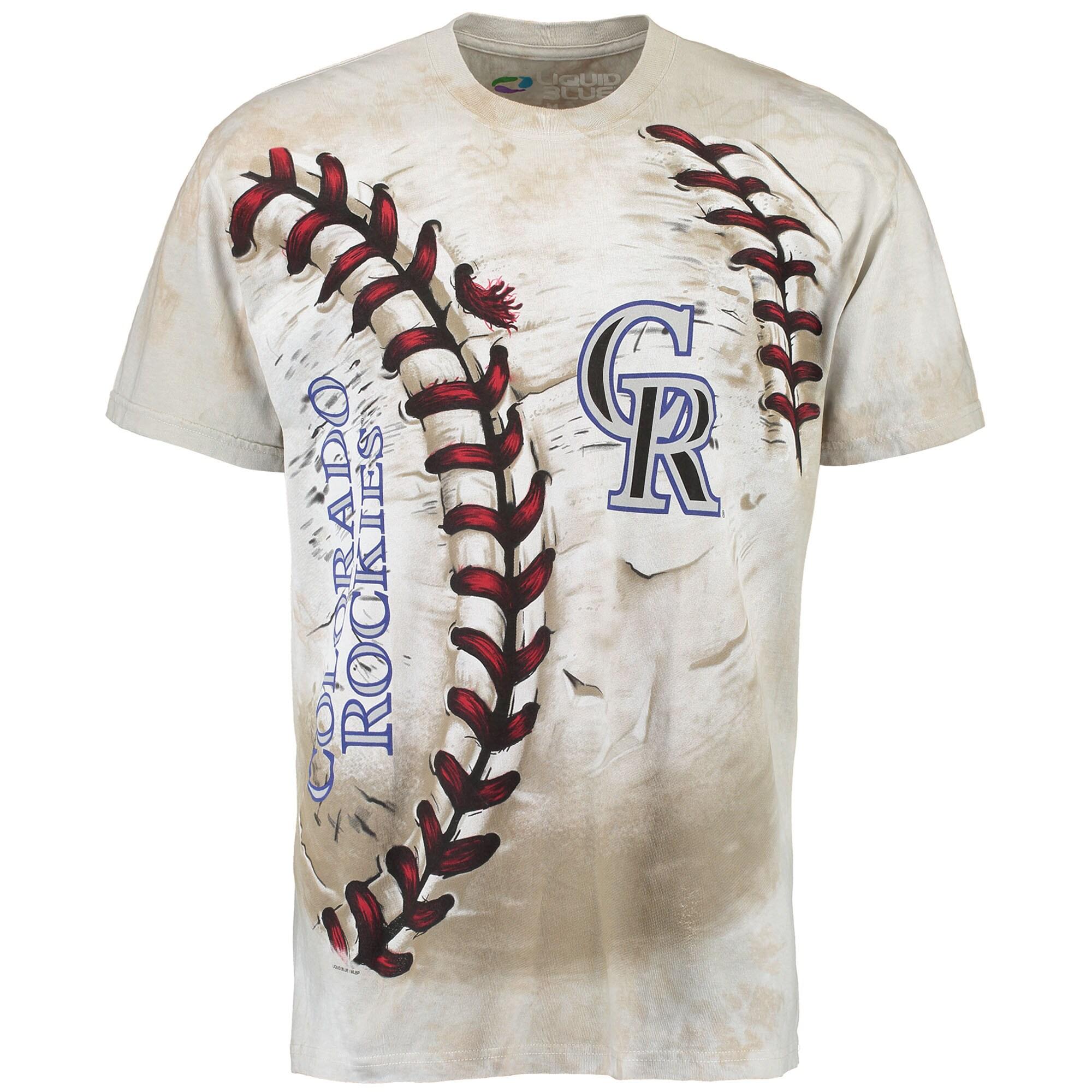Colorado Rockies Hardball Tie-Dye T- Shirt - Cream