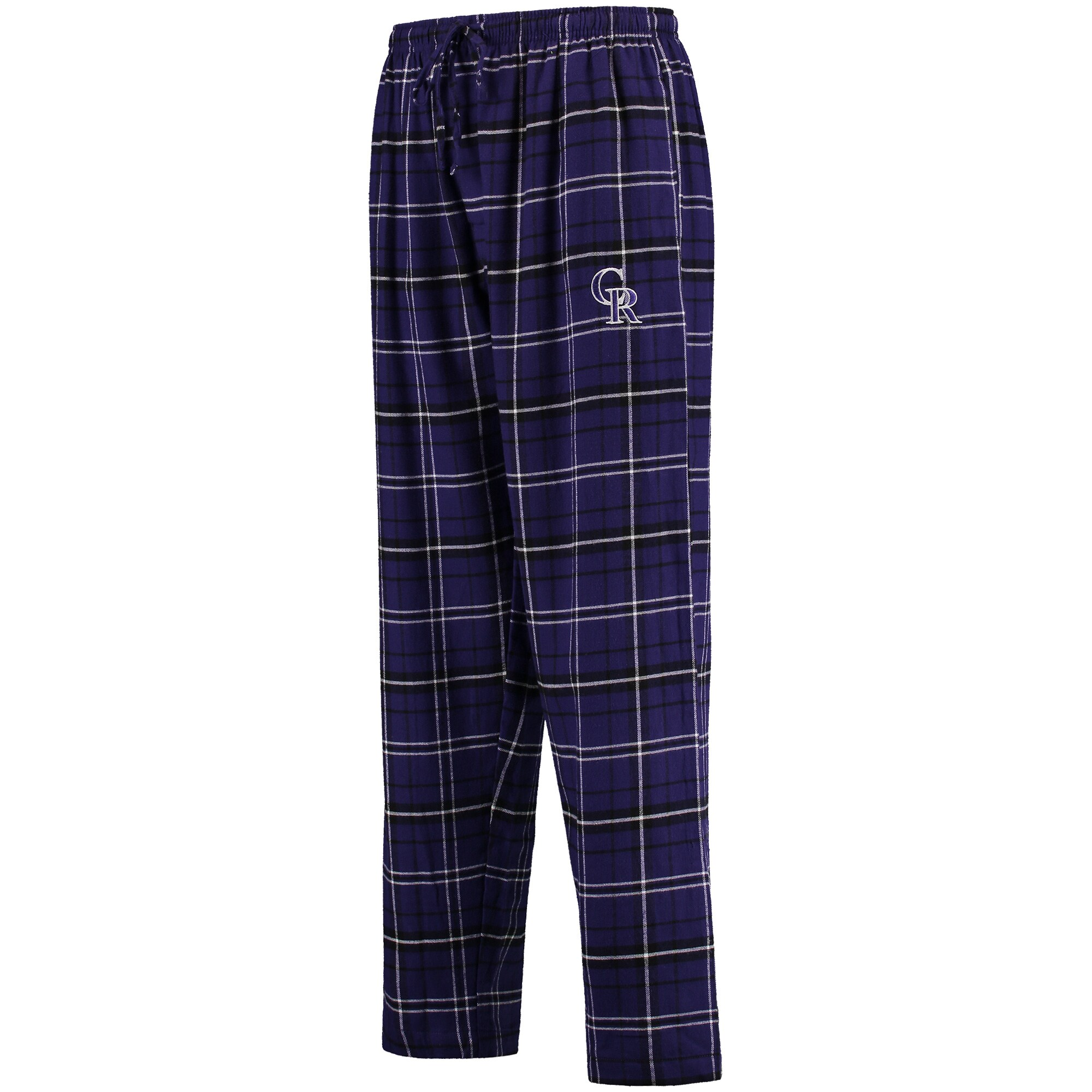 Colorado Rockies Concepts Sport Ultimate Plaid Flannel Pants - Purple/Black